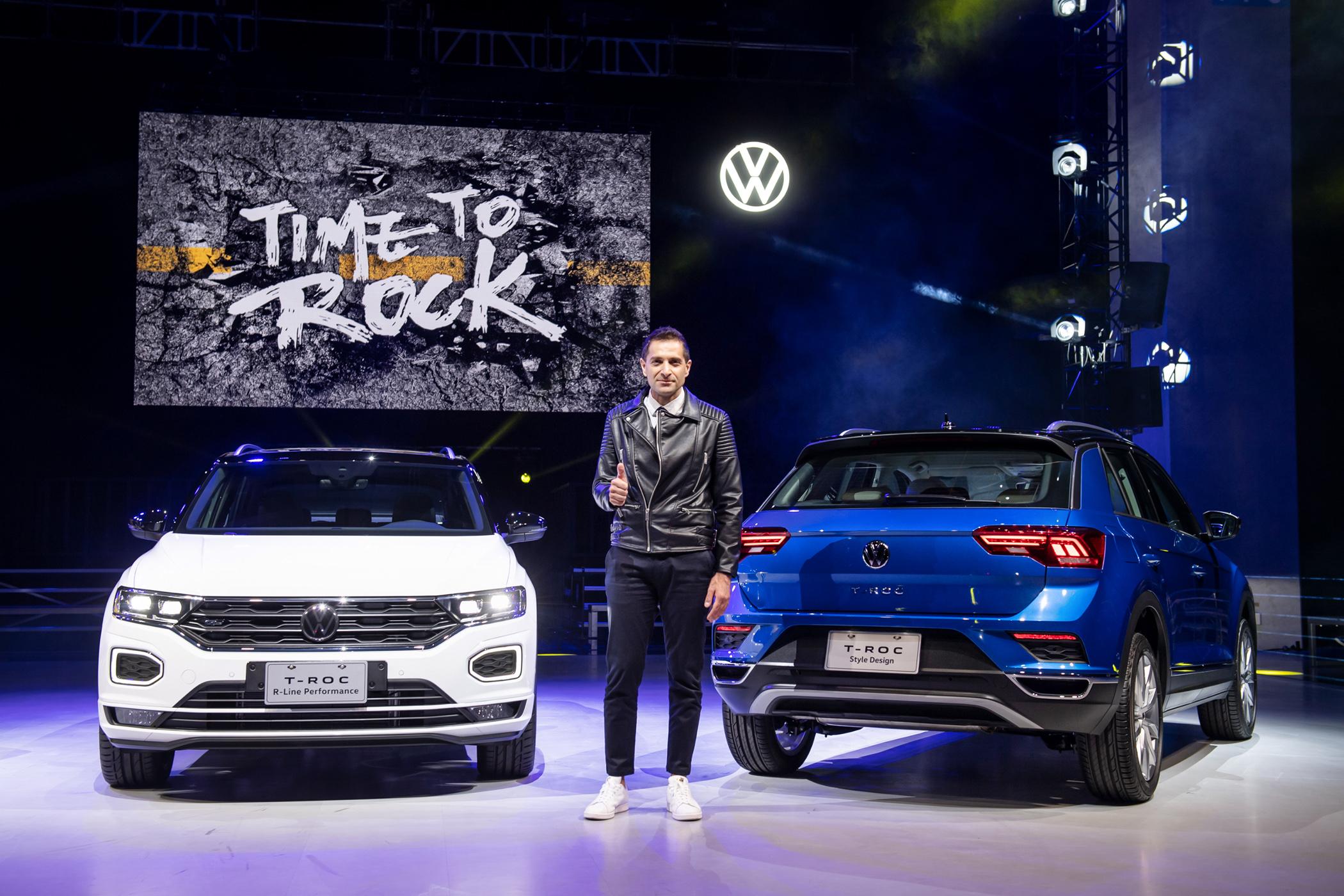 台灣福斯汽車總裁 安士杰 Sacha Askidjian 正式宣布 Volkswagen T-Roc 以 104.8 萬起正式上市。