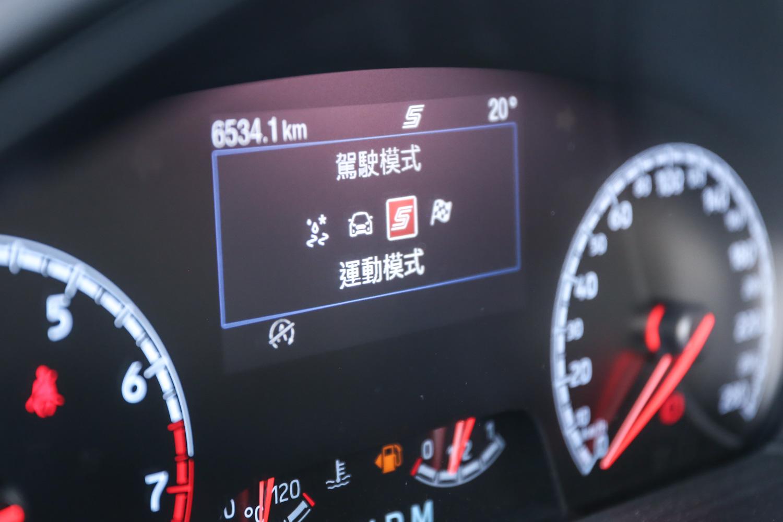 動態行車模式切換系統(Selectable Drive Modes)可提供濕地(Slippery/Wet)、標準(Normal)、運動(Sport)與賽道(Track)四種模式選擇。
