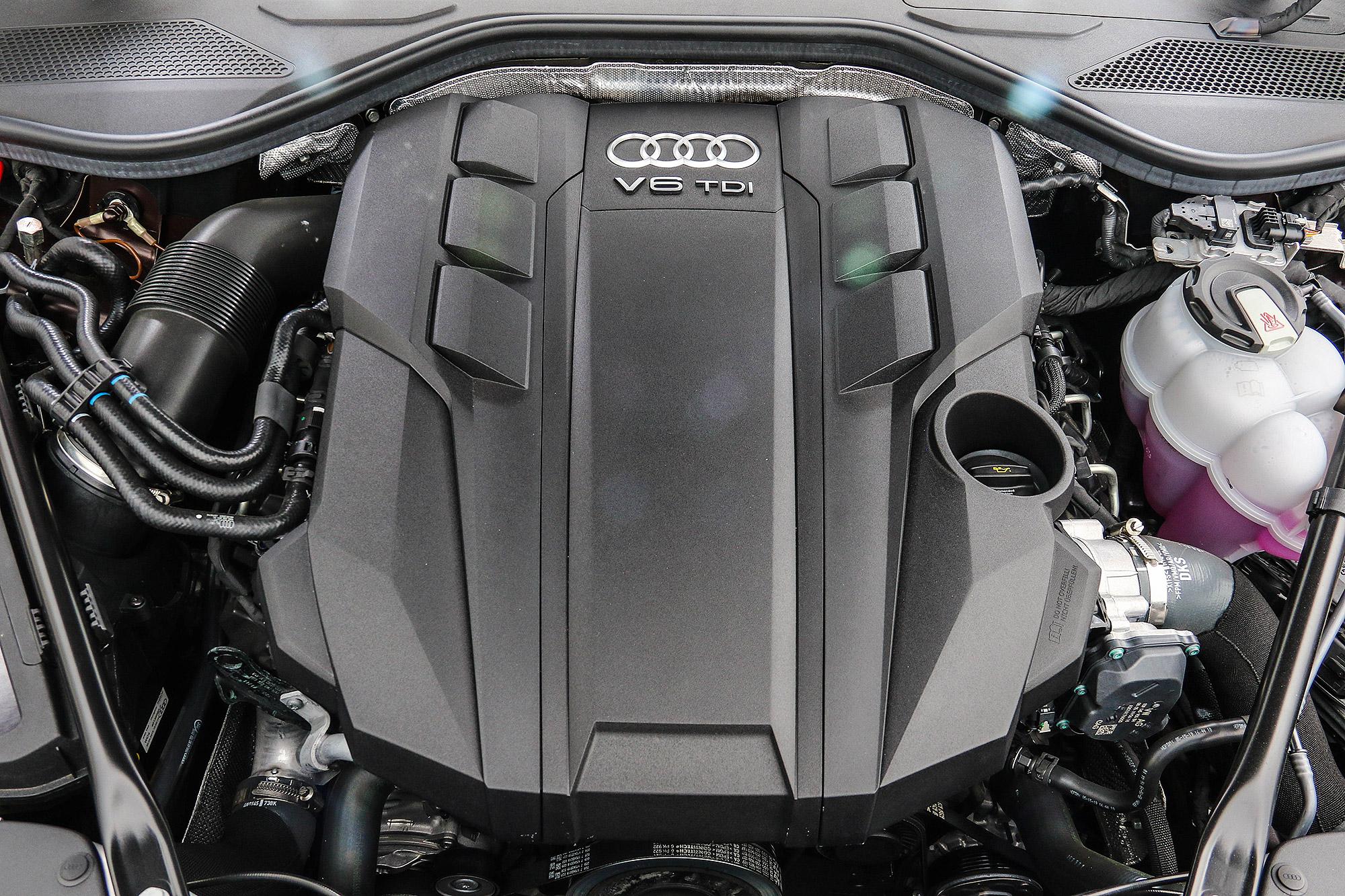 3.0 升 V6 TDI 柴油引擎整合 48V Mild-Hybrid 微型油電複合動力系統。