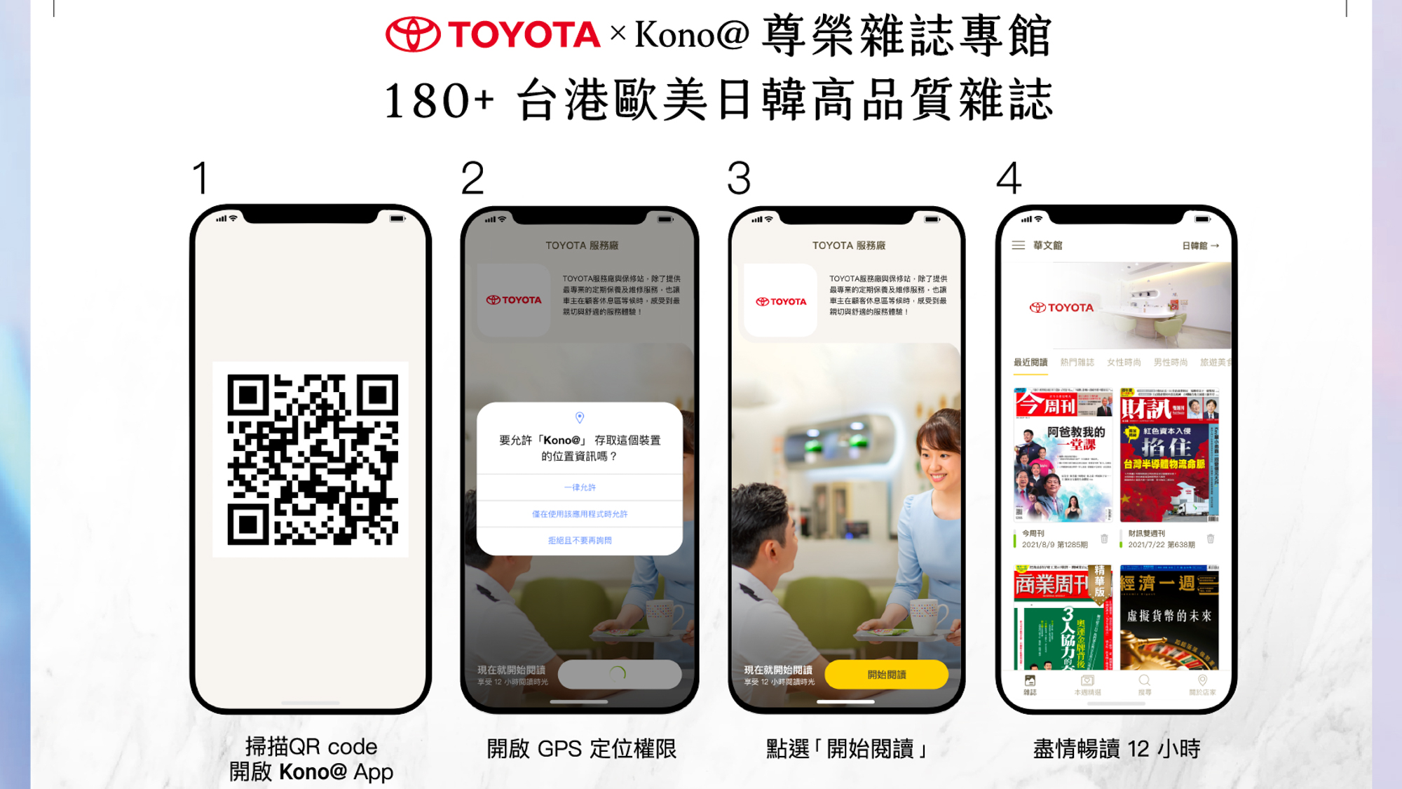 Toyota攜手商家數位雜誌 Kono@ 打造品牌線上閱讀館