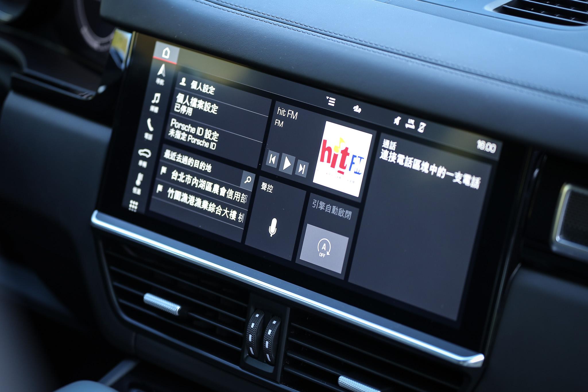 搭配 12.3 高解析度觸控螢幕的保時捷通訊管理系統。