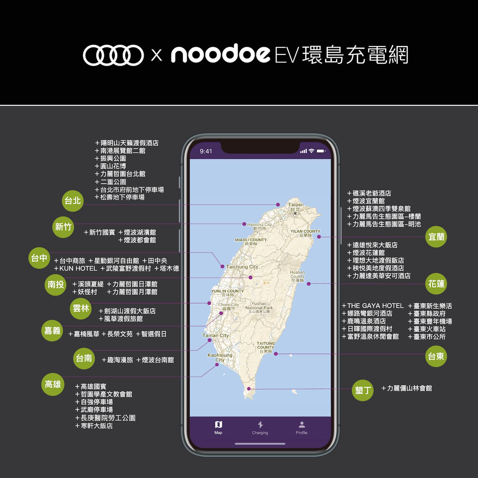 Audi X Noodoe EV Network。
