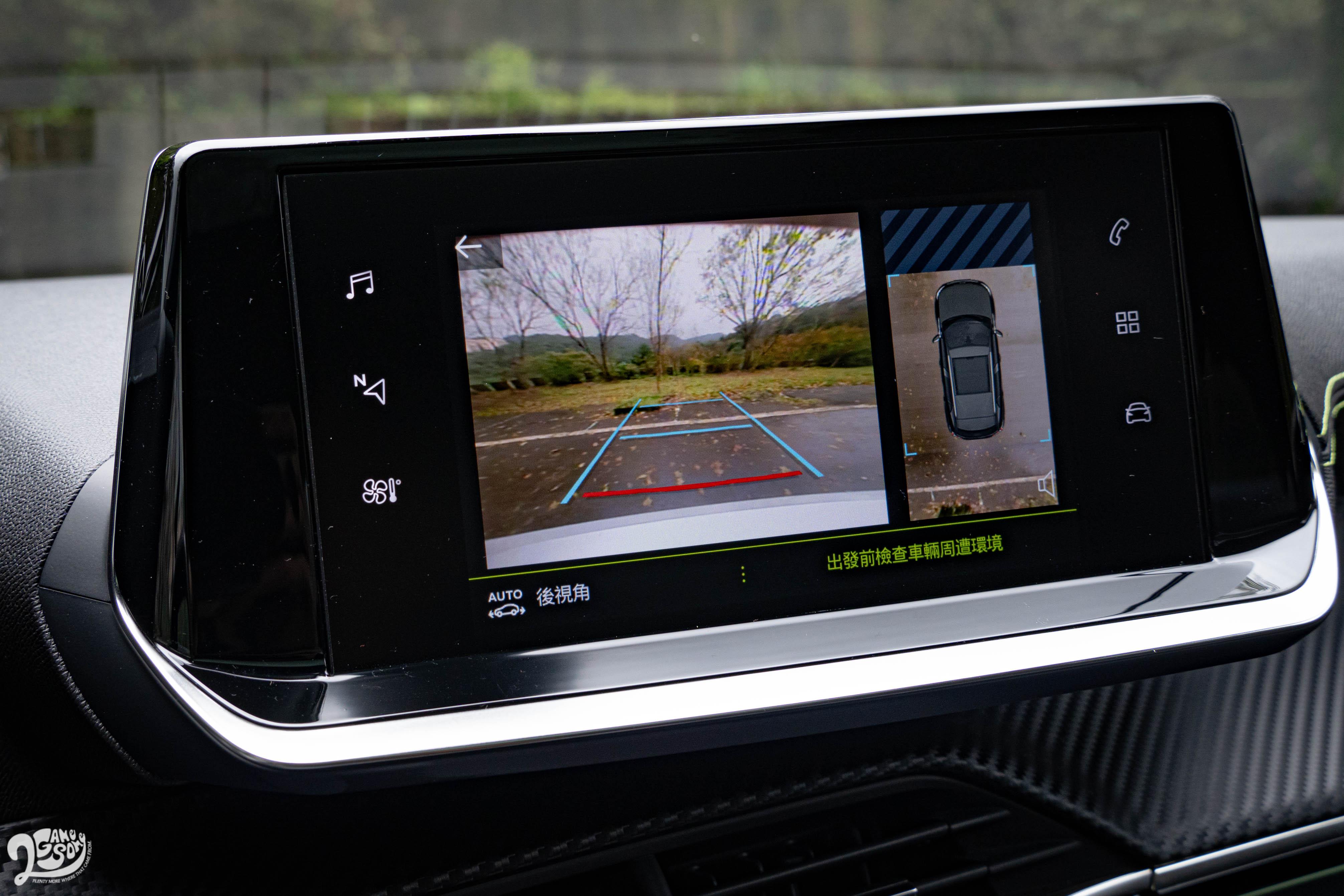 倒車顯影、盲點偵測這兩項消費者愛用貨,就要到 110.9 萬的 GT Line 和 118.9 萬的 GT 才有。
