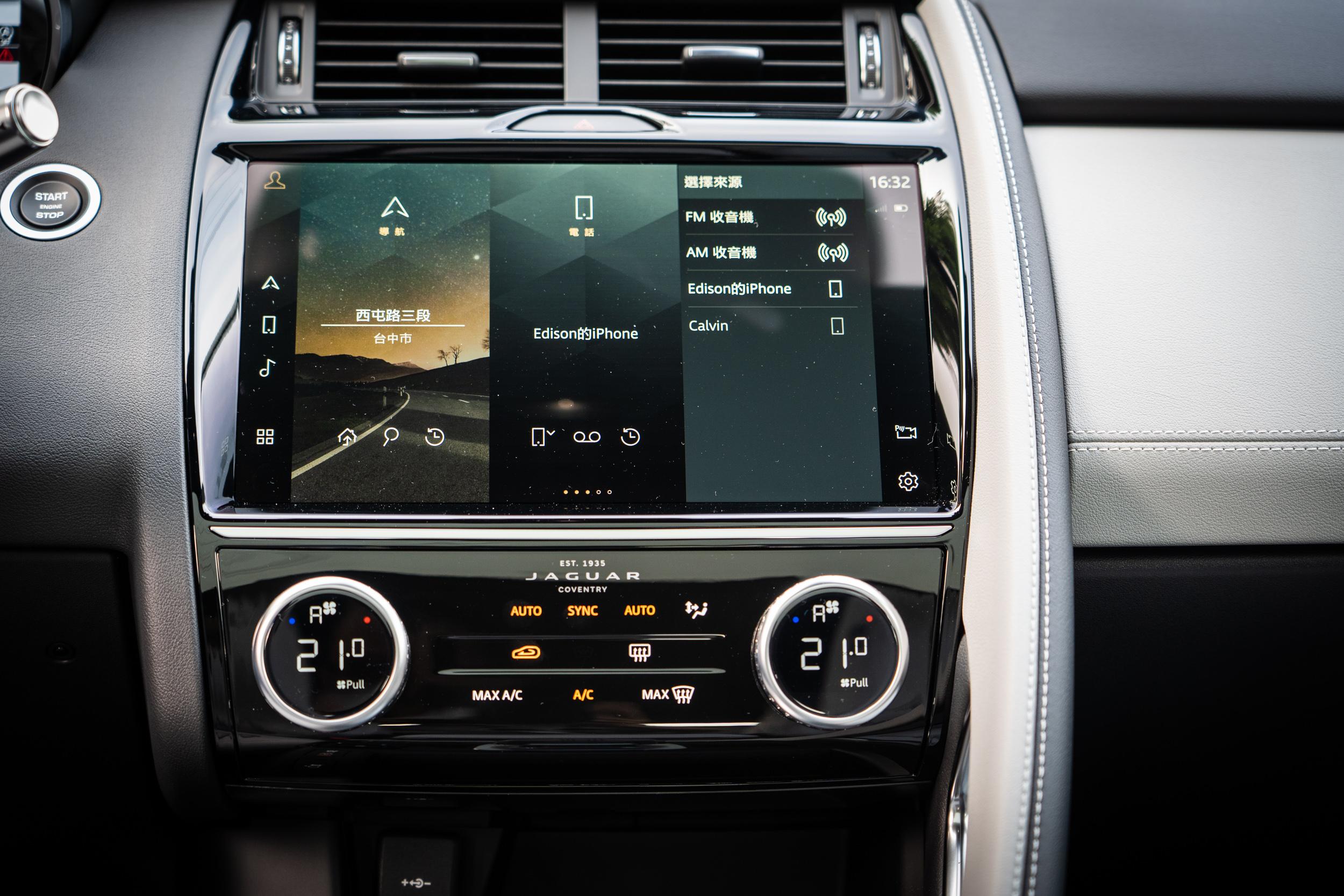 中控台中央的 11.4 吋 Pivi Pro 多媒體觸控式顯示螢幕,介面設計與操作邏輯都相當易懂好上手。