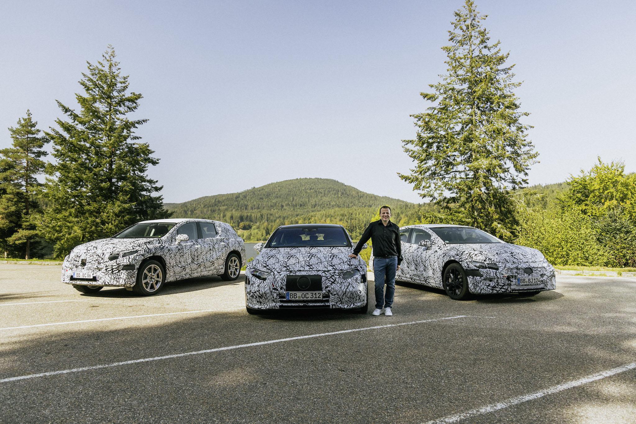 EVA 平台已進入路試階段,圖為 Mercedes-Benz EVA 平台副總監 Christoph Starzynski。