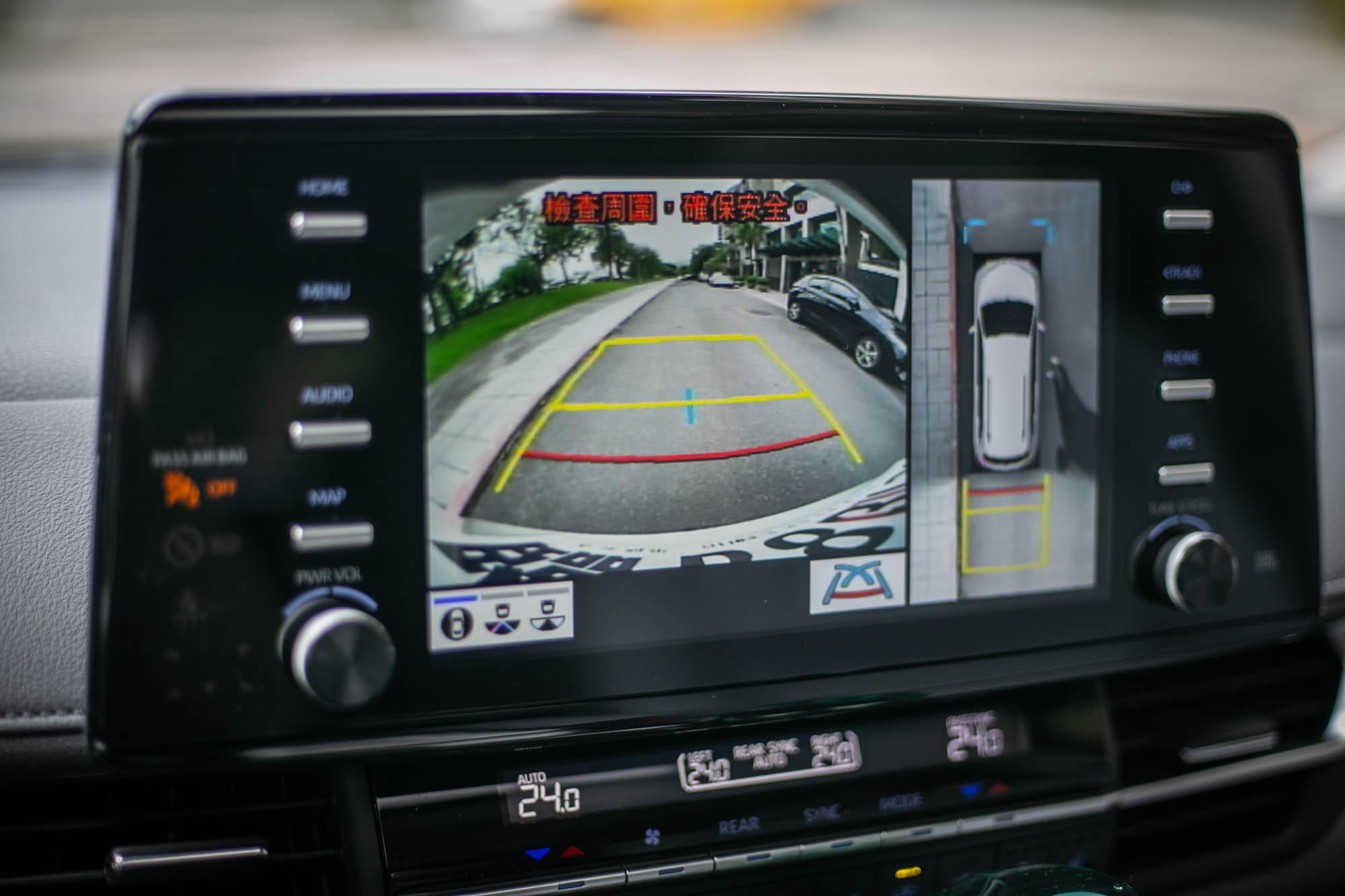 PVM環景影像輔助系統為車系標配。