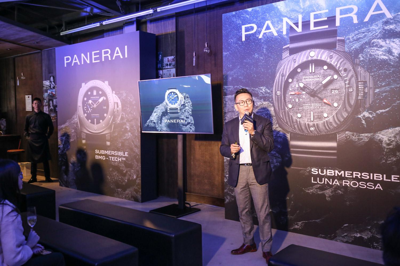 接著由台灣 Panerai 張明澤總經理帶來品牌精彩的故事。