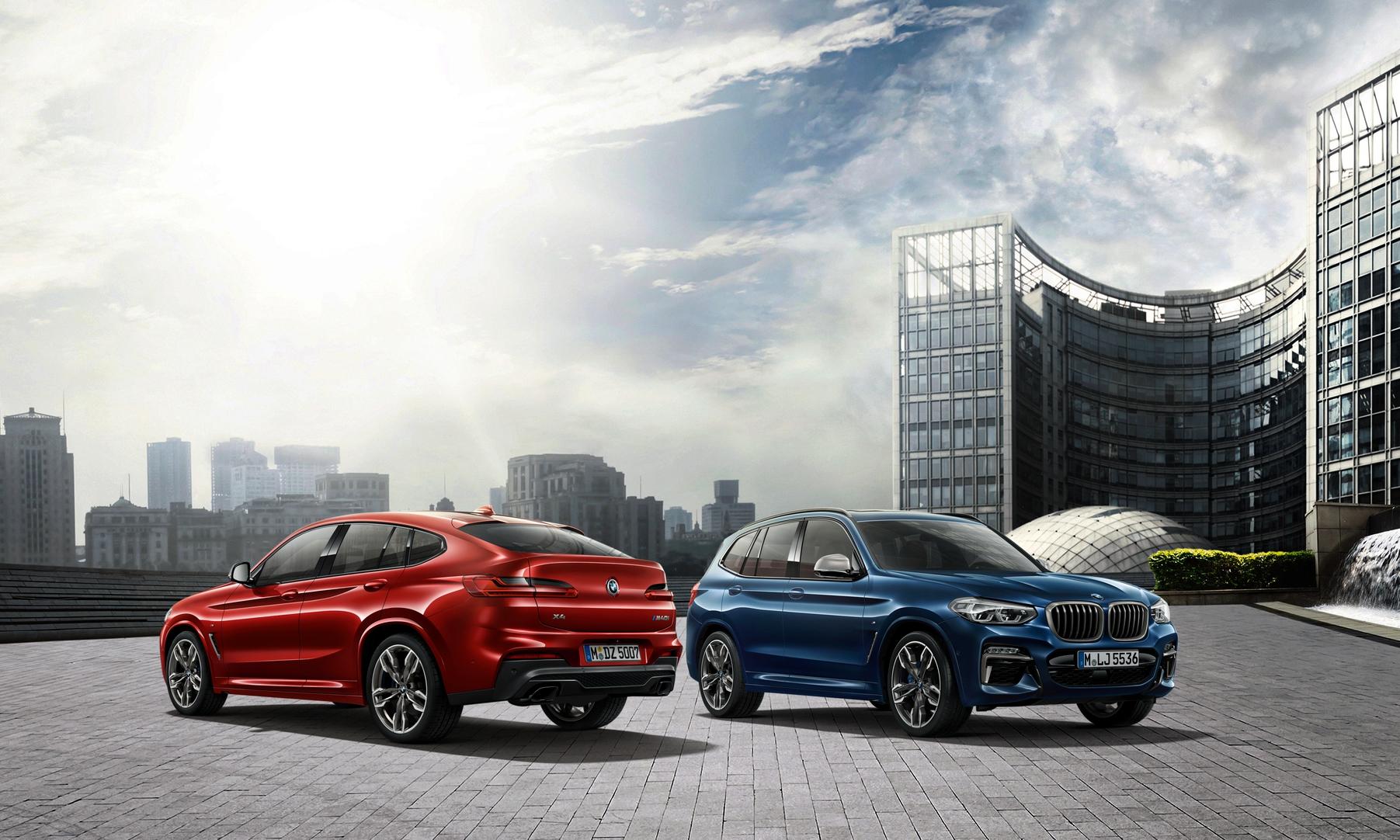 BMW X3、X4白金領航版本月交車加贈一年乙式全險。