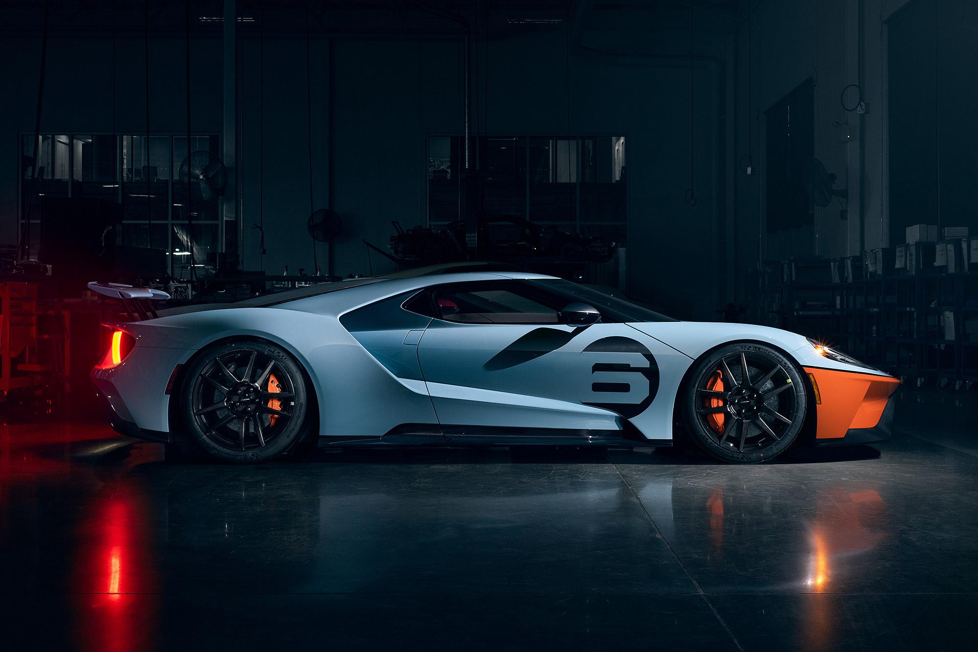 Gulf Racing Heritage 樣式向過去的 GT40 致敬。