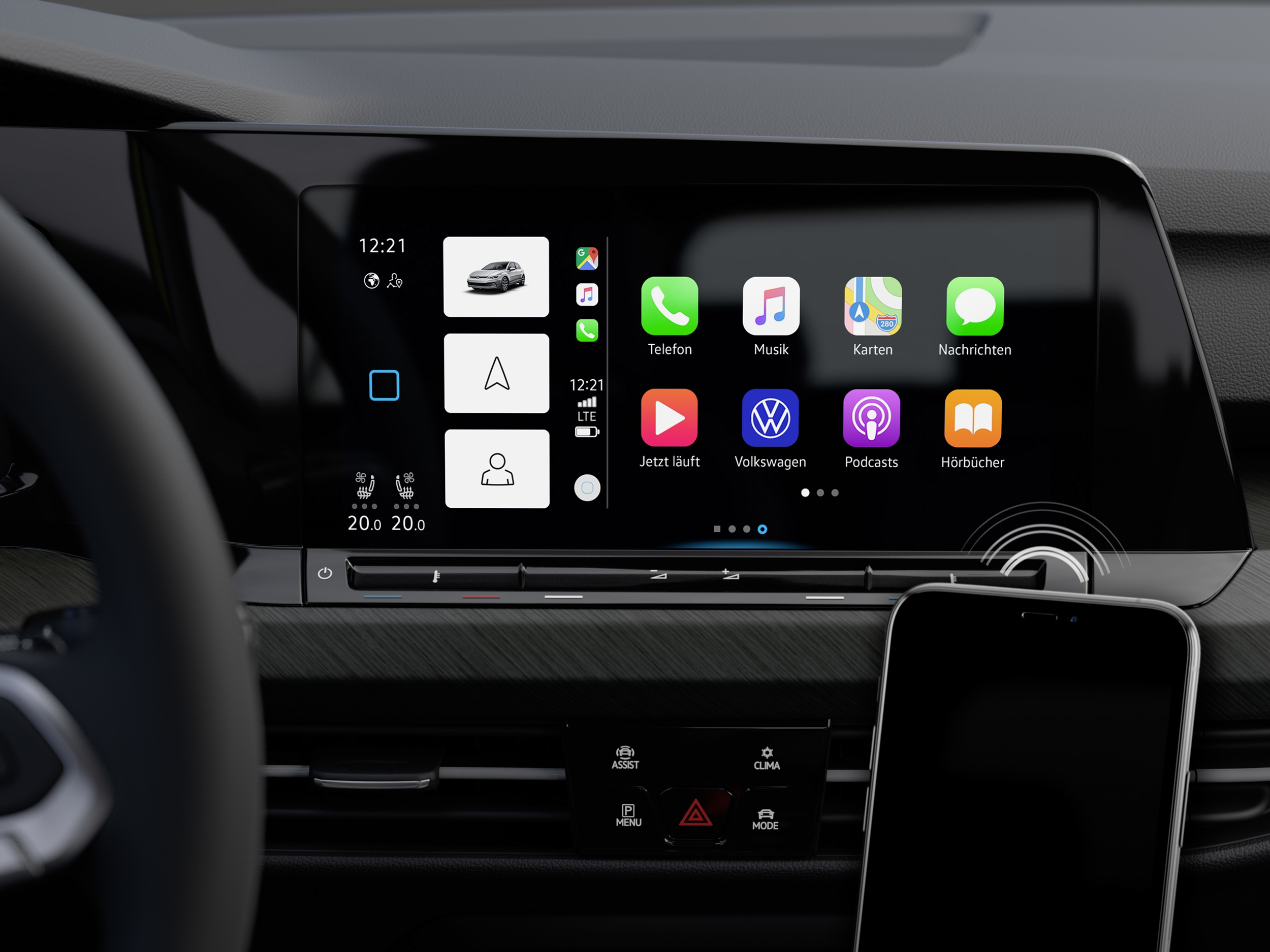 Style以上車型支援無線Apple CarPlay及提供Volkswagen首款無線Android Auto功能。