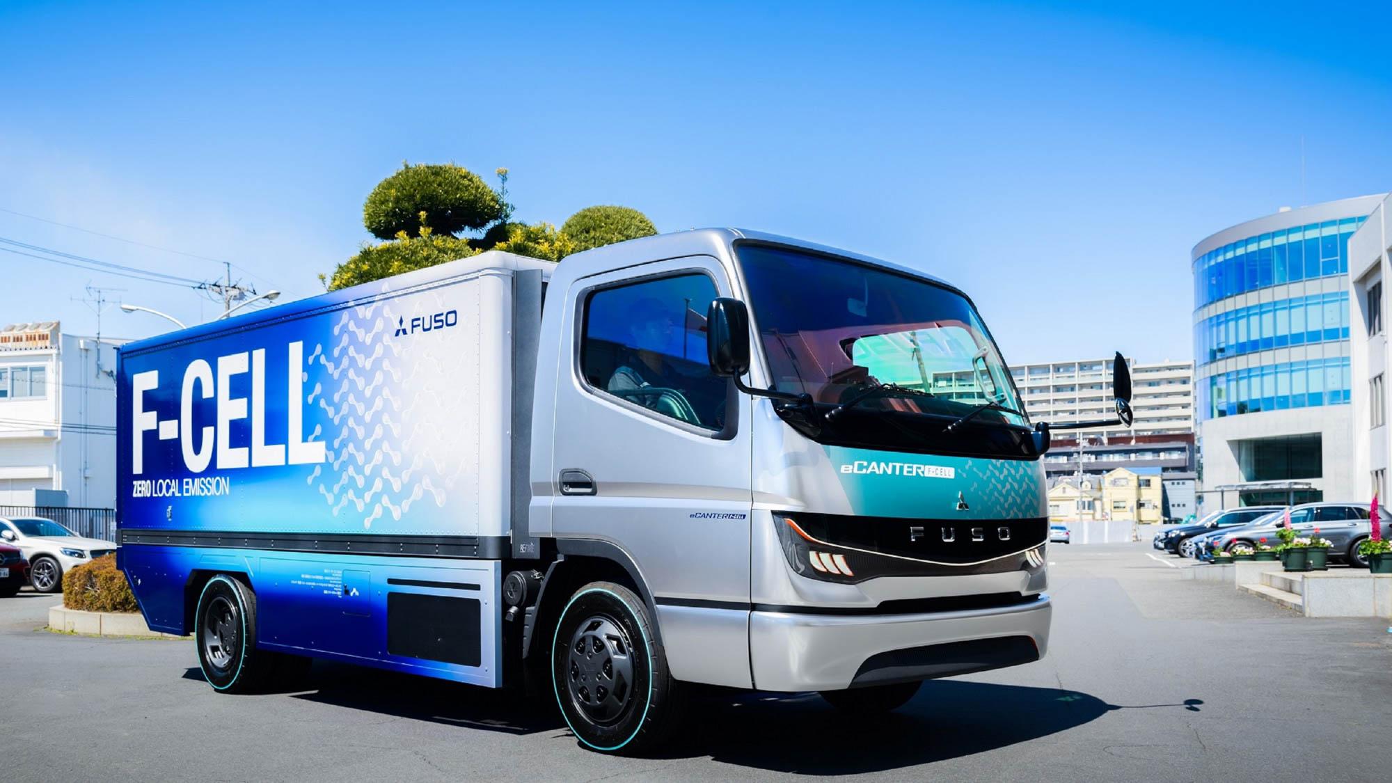 為商車展準備!FUSO eCANTER F-CELL 氫燃料商用概念車抵台