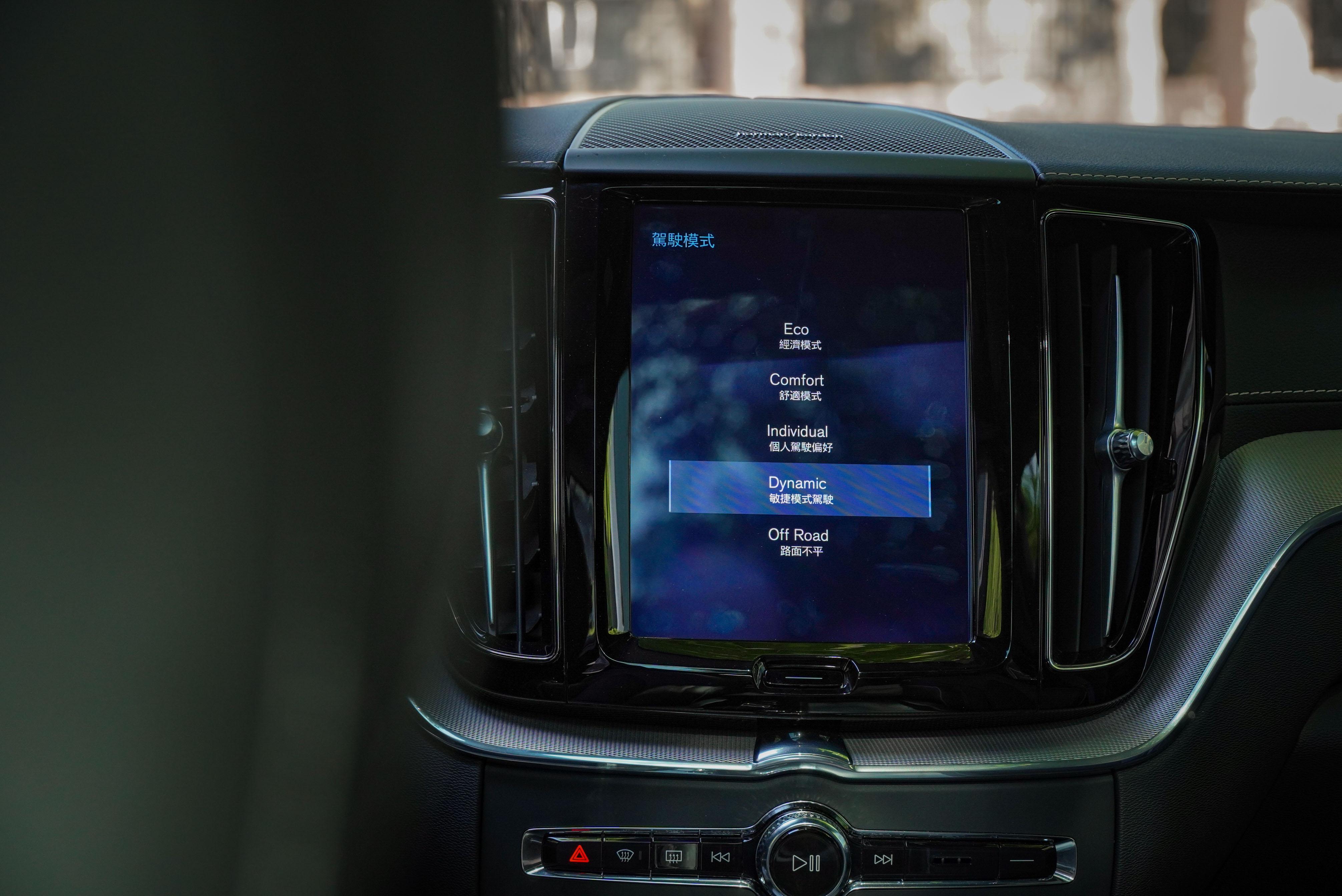 提供 Eco、Comfort、Dynamic、Individual、Off-Road 五種駕馭模式。