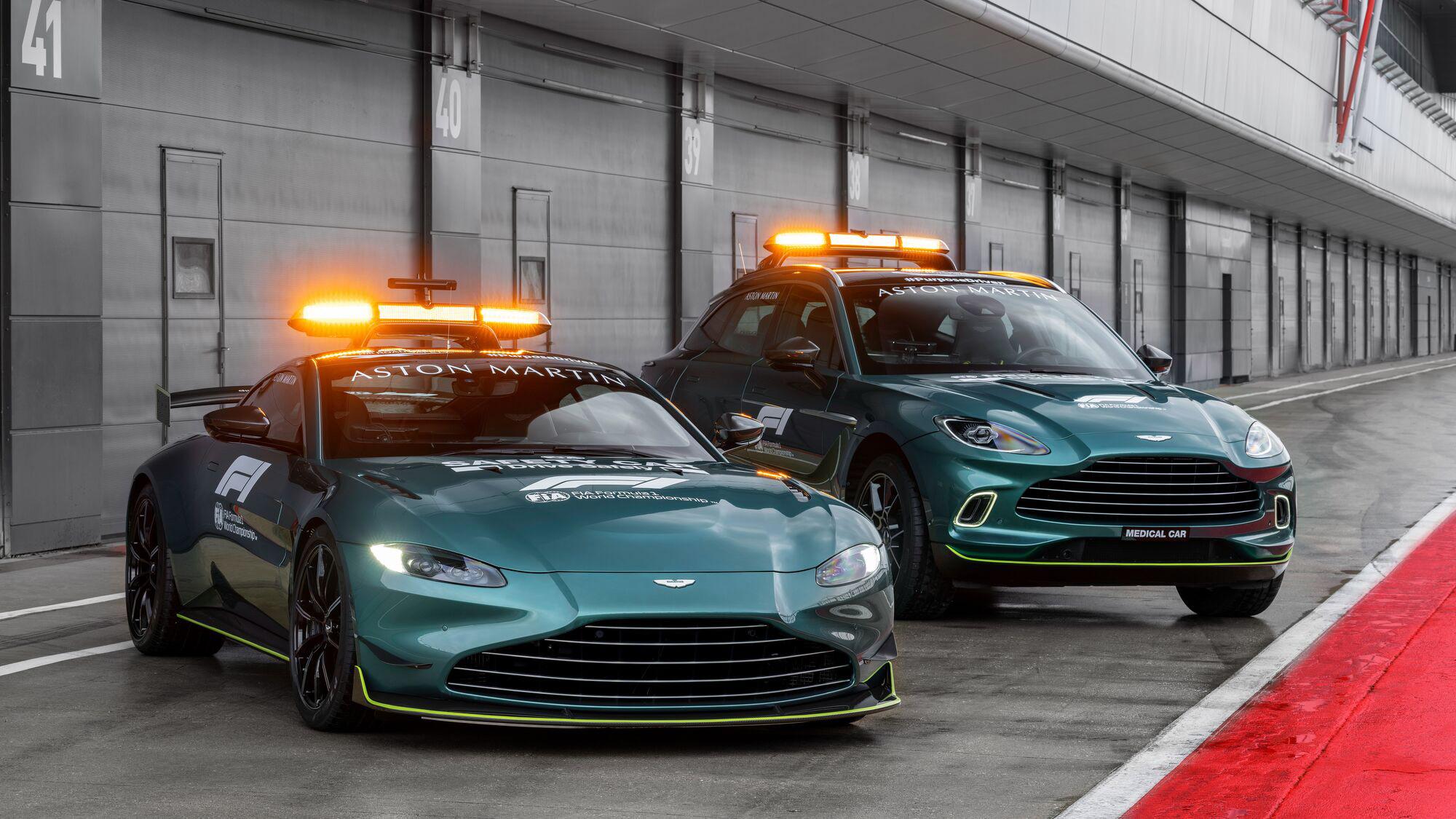 F1 新看點!Aston Martin Vantage、DBX 擔任安全車、醫療車