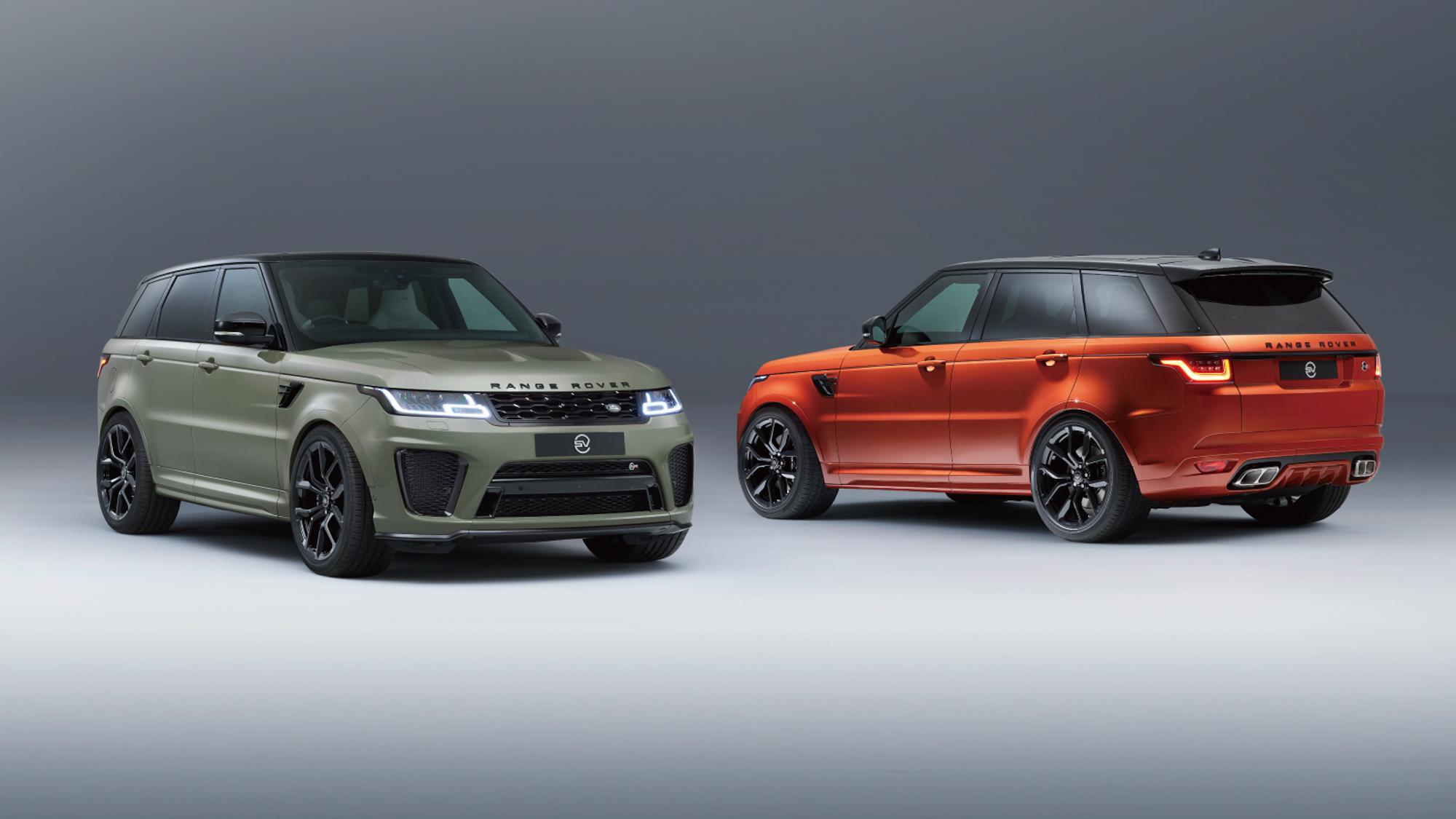 Range Rover Sport SVR 推出 SV Bespoke 專屬車色,車色選配價 54 萬元
