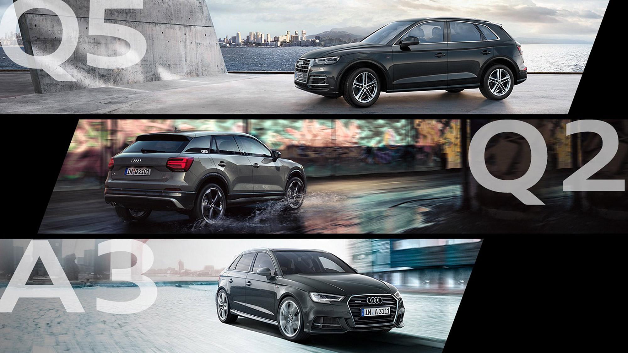 你想要的 Audi 一次都給你, Q5 | Q2 | A3 Sportback S line 限量特惠有個性又超值