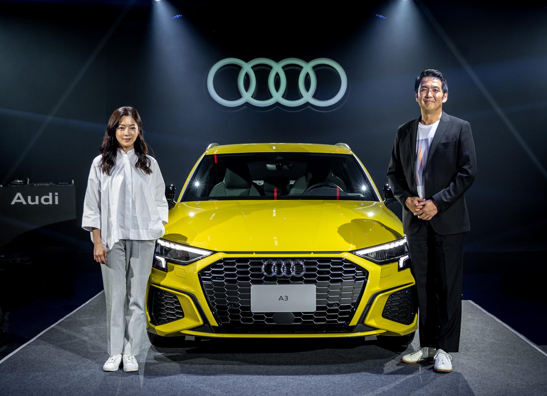 左起 C JEAN 創意總監簡君嫄小姐、台灣奧迪行銷處長石田英明先生。