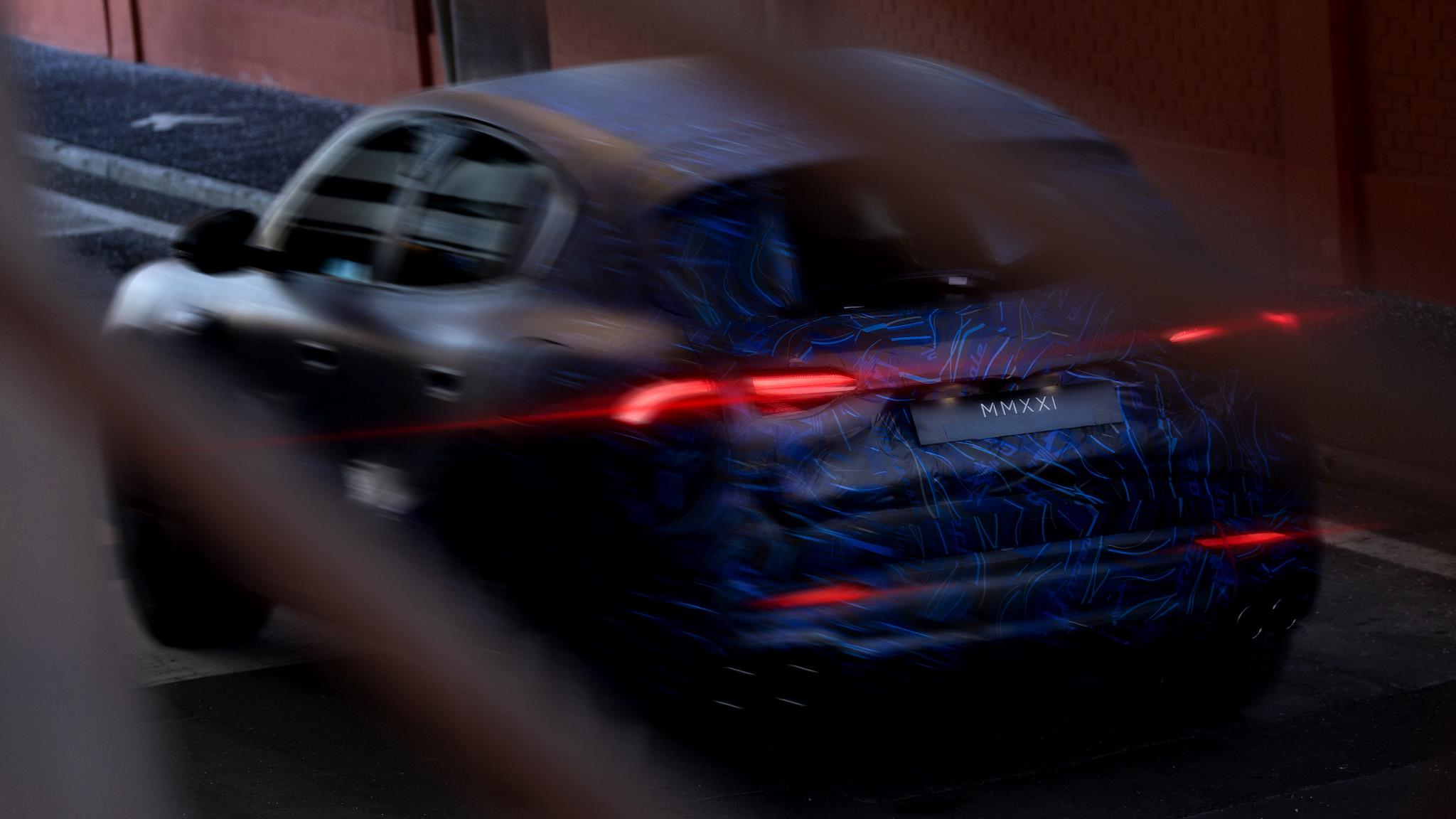 ▲ Maserati Grecale 原型車模糊現身,年底正式發表