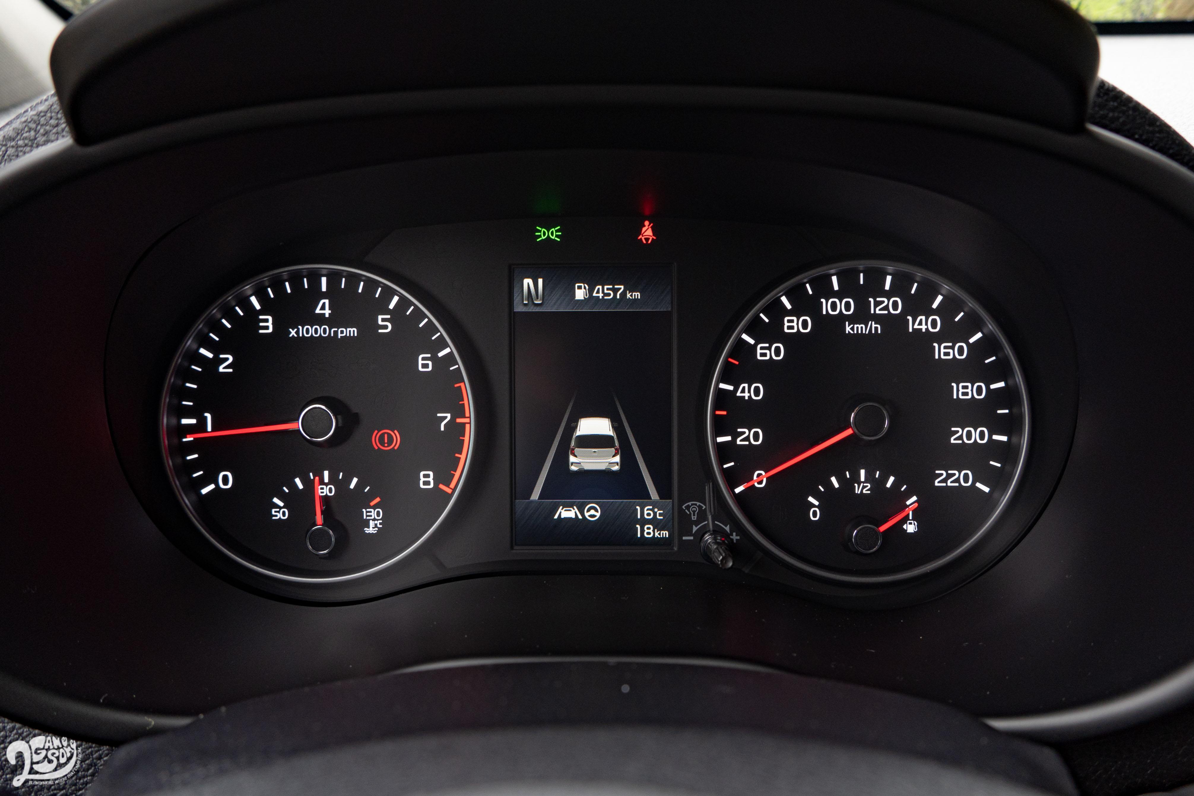 Picanto 全車系升級標配 4.2 吋全彩旅程電腦,可顯示智慧駕駛等圖資。