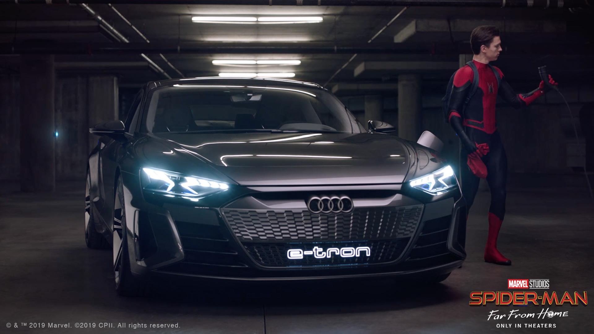 竟不敵兩顆馬鈴薯!Audi e-tron GT 現身《蜘蛛人:離家日》最新預告