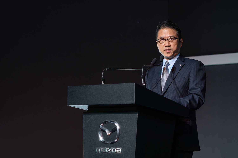 台灣馬自達總經理三浦 忠為 Mazda CX-30 新車上市揭幕。