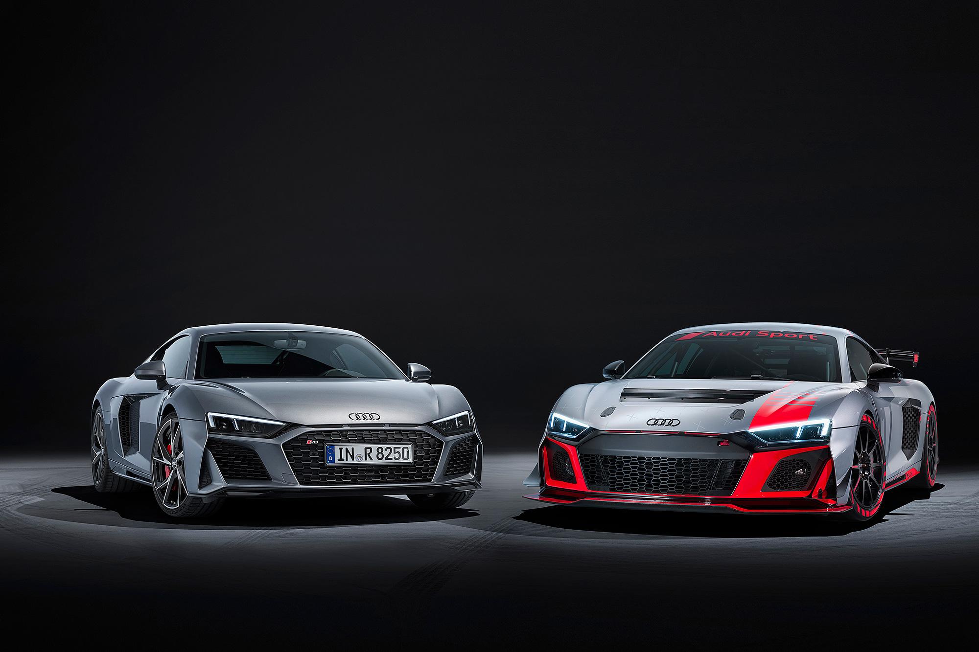 R8 V10 RWD 與 R8 LMS GT4 同步發表。