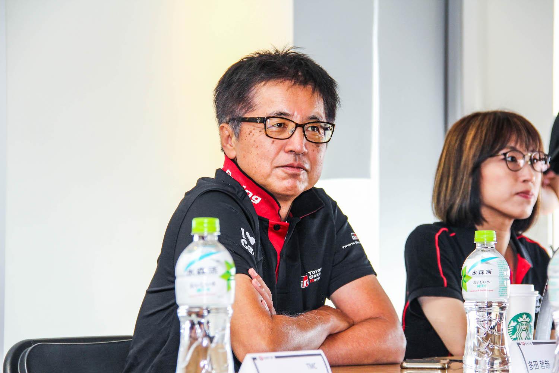 賽道試駕前,產品總工程師 多田哲哉先生侃侃而談 GR Supra 的開發歷程。