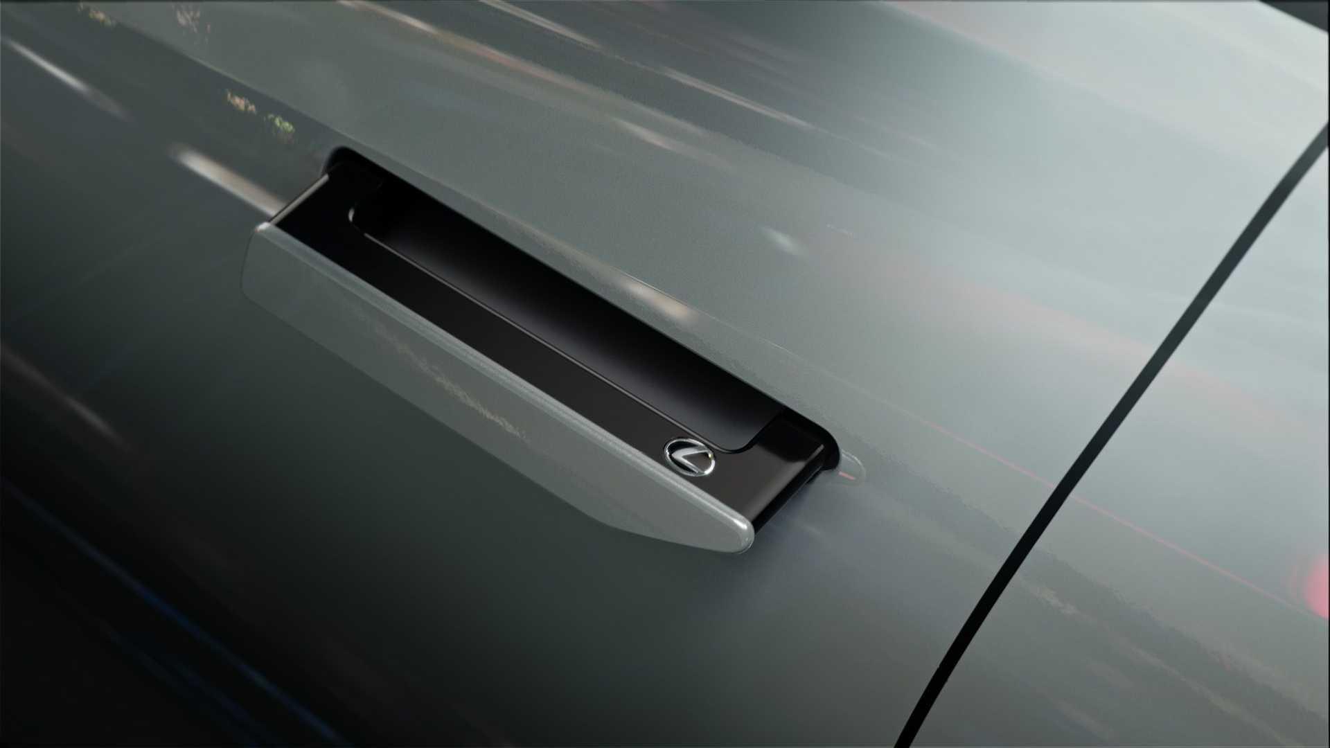 隱藏式車門把手設計。