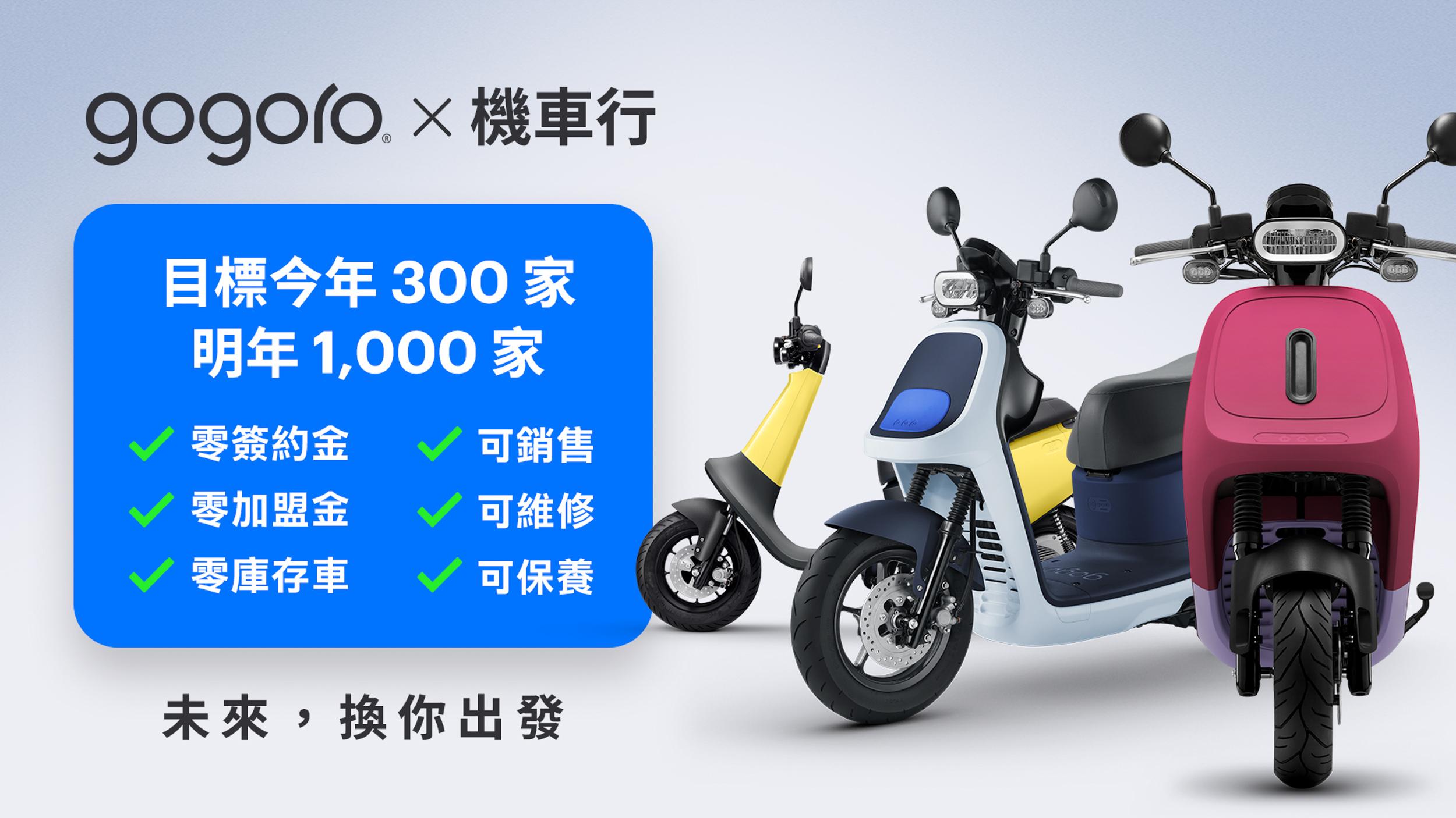 Gogoro 招募機車行升級轉型  打造電動機車展示、銷售、維修、保養服務
