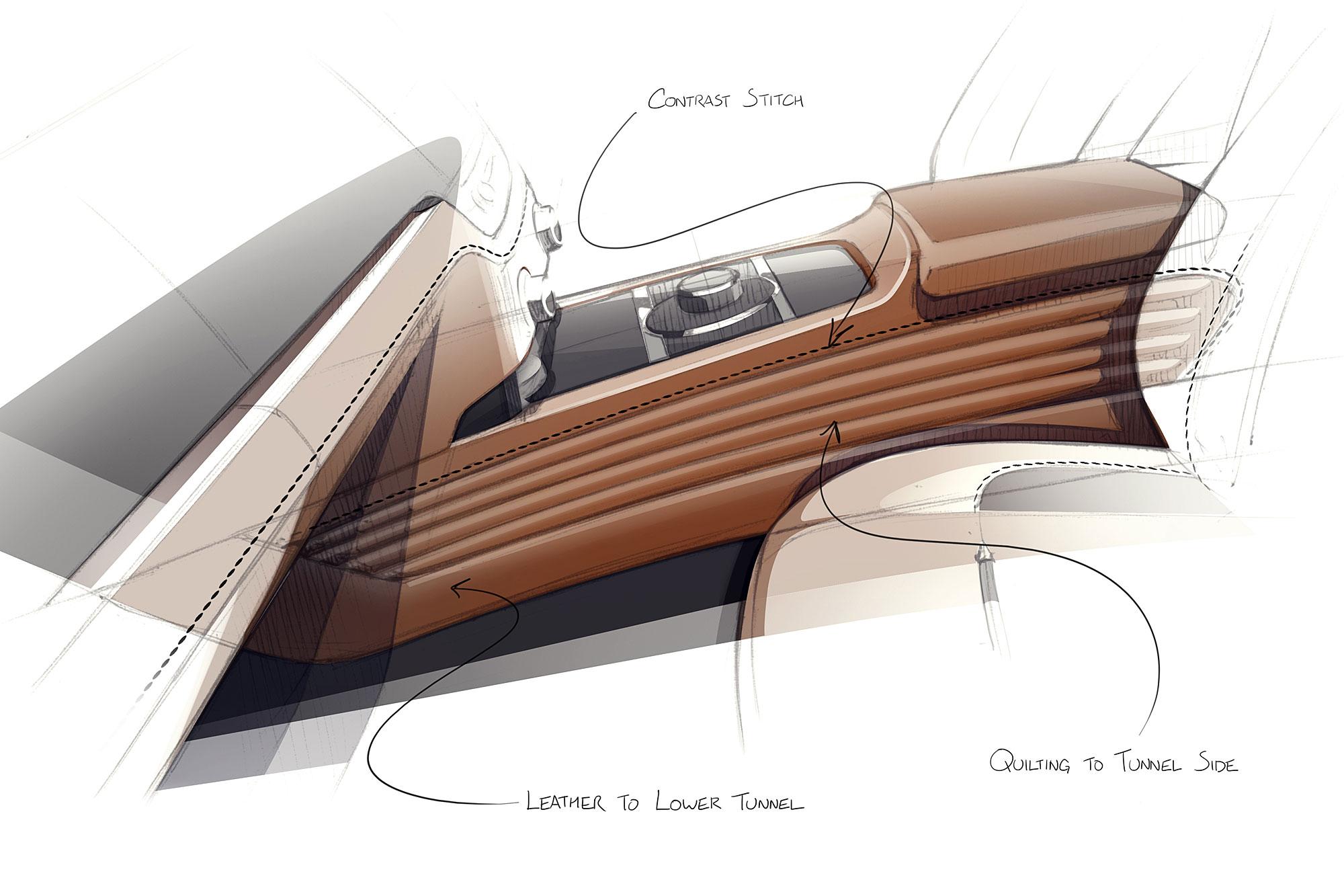 車內將懷舊復古與現代科技相互融合。