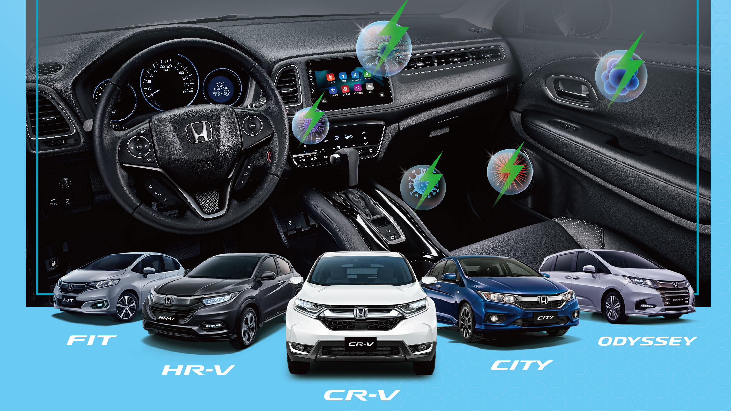 Honda 三月送除菌系統,HR-V 享限量優惠、CR-V 還有 70 萬 0 利率!