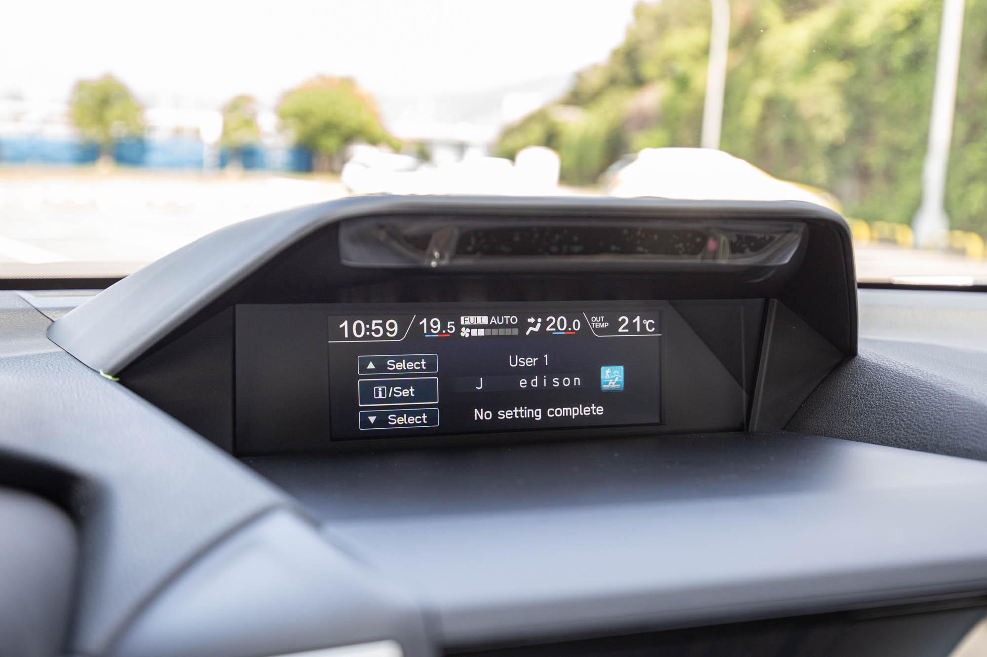 DMS智能駕駛警示系統可設定駕駛英文名字。