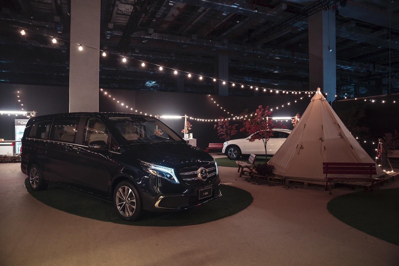 整合虛實的 Mercedes-Benz 專屬森林露營區。