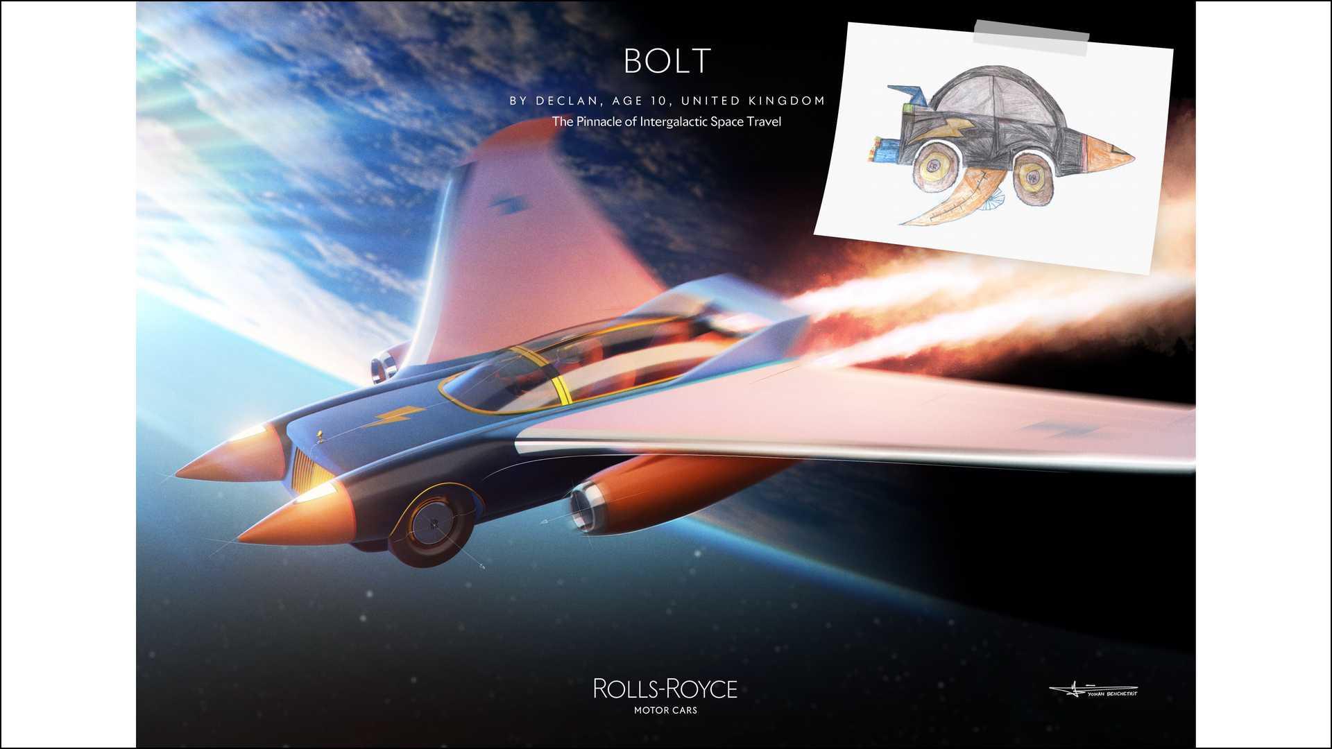 《勞斯萊斯Bolt》—— 來自英國的 10 歲青年設計師 Declan。