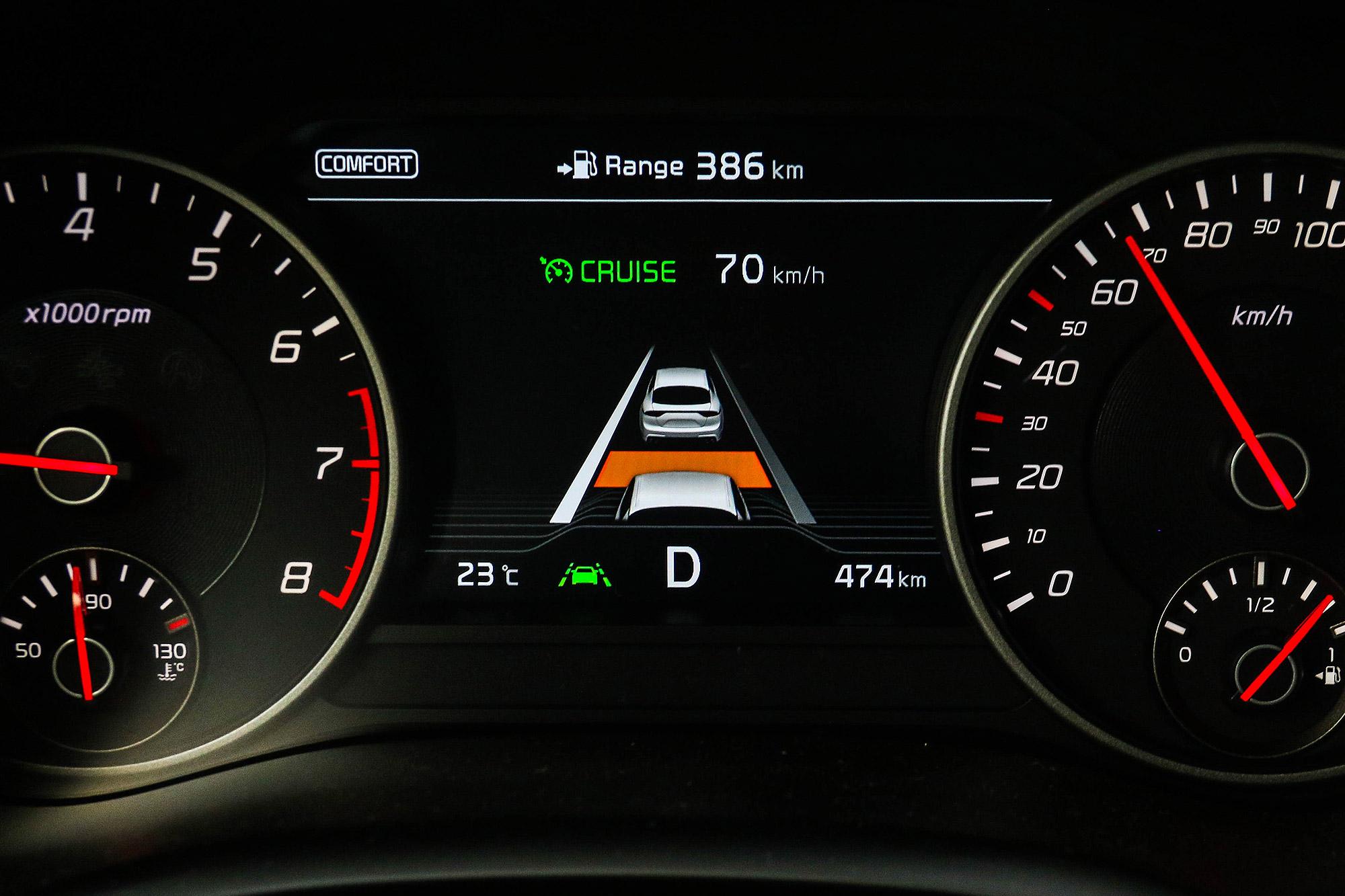具備 SAE Level 2 等級的半自動駕駛輔助系統,是這次 Stinger 年式更新的重點。