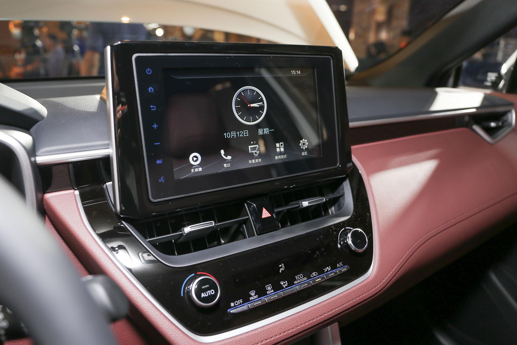 Toyota Drive+Connect智聯車載系統8吋Wi-Fi主機,Apple CarPlay 與 Android Auto 系統需加價選購 4G WiFi 套件。