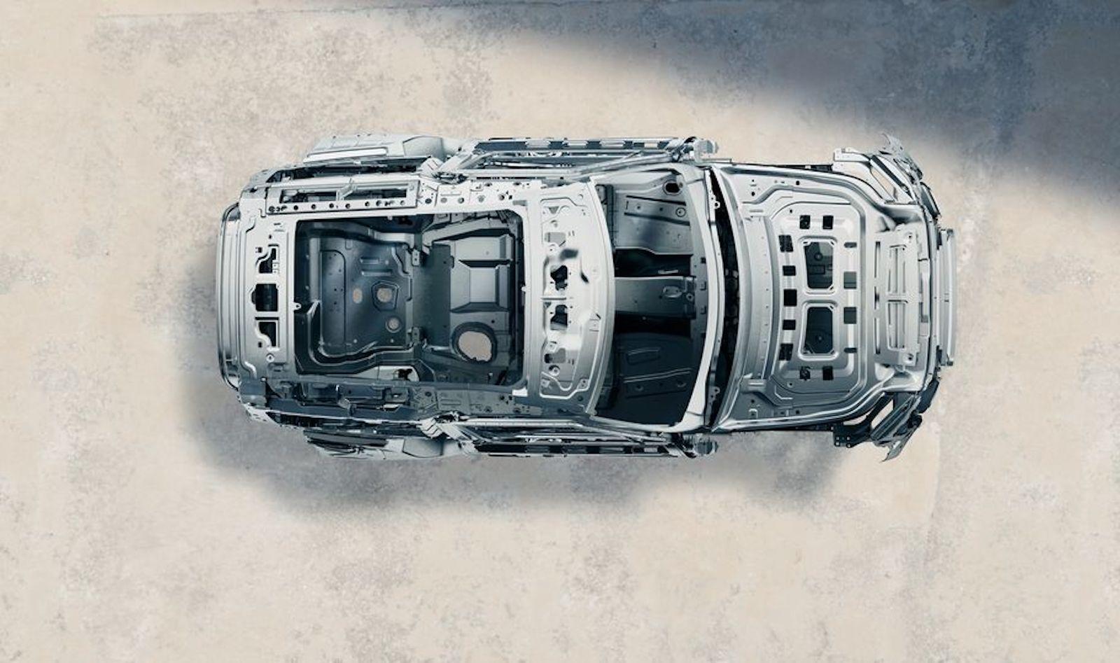 D7x 平台全鋁合金單體式車體結構。