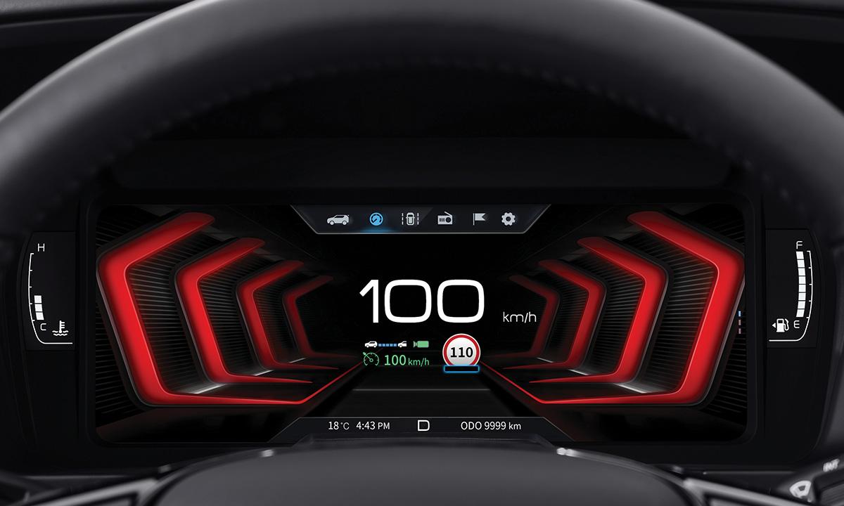 搭載全新 10.25 吋 TFT-LCD 數位儀表板與原廠 8 吋中控影音整合系統。