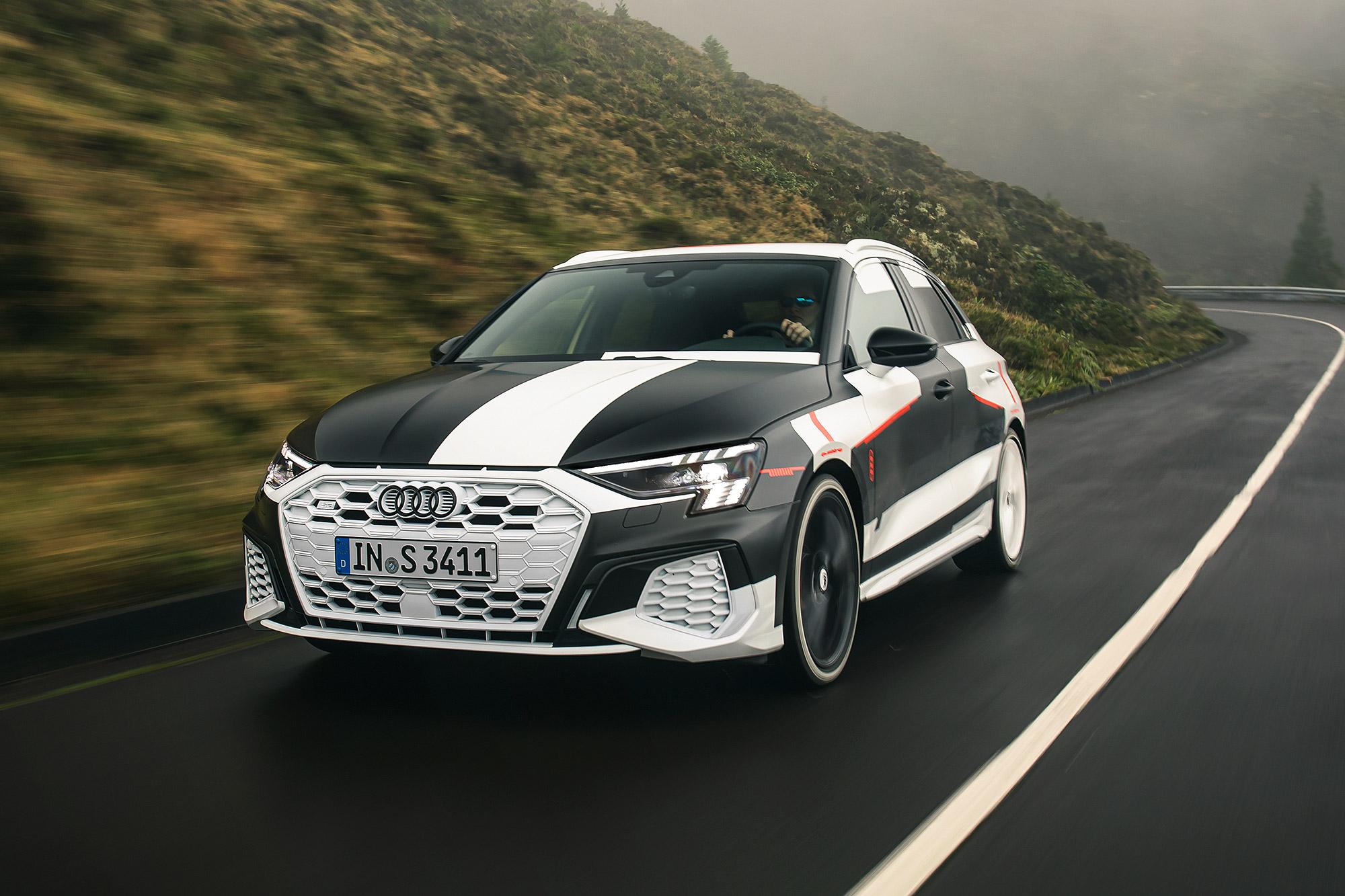 Audi 透過 S3 Sportback 的偽裝測試照片預告 A3 Sportback 即將發表大改款更新。