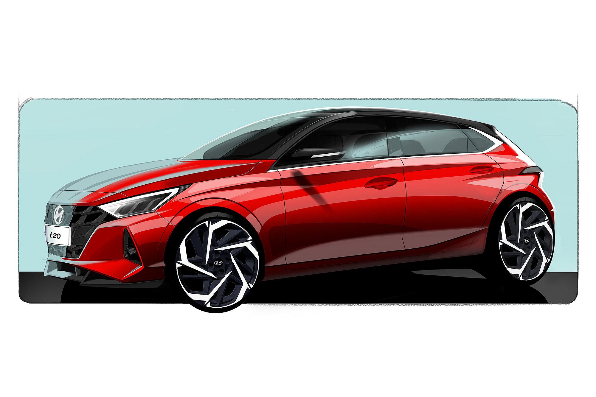 新世代 i20 預告 2020 年日內瓦車展發表。