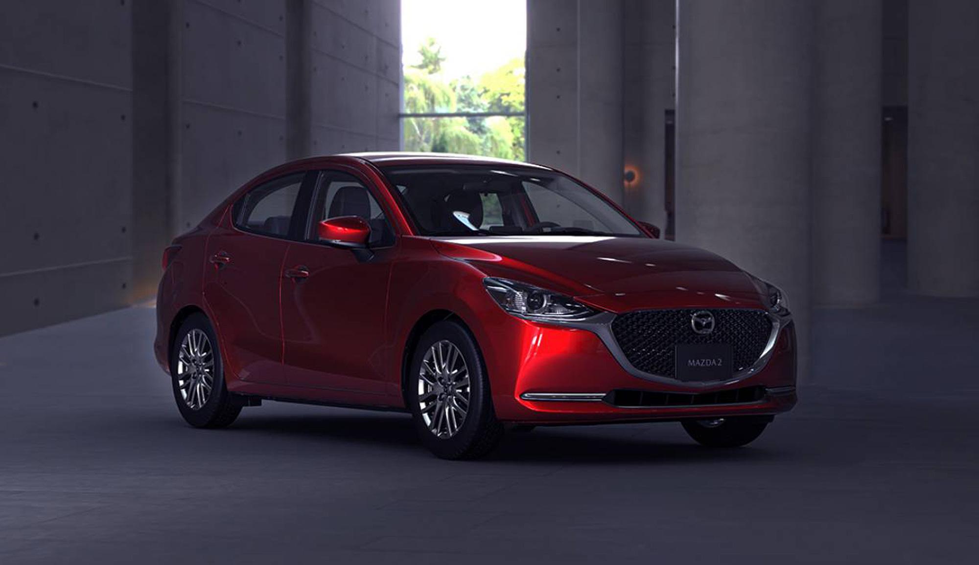 Mazda2 Sedan 小改款外觀修飾與 Mazda2 掀背車型採用相同走向。