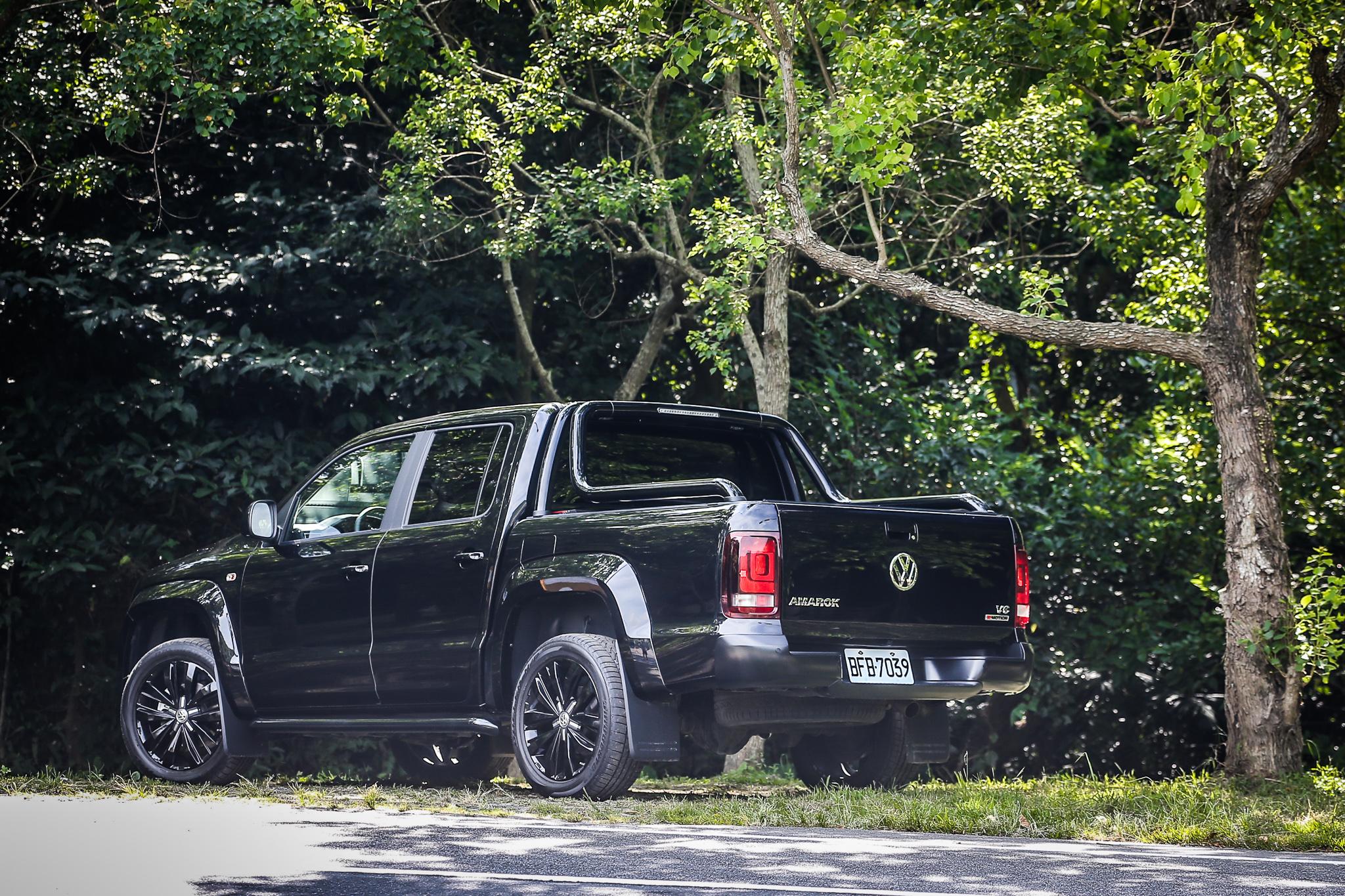 一如車名所述,Amarok V6 Black Edition 以黑色為特仕主軸。