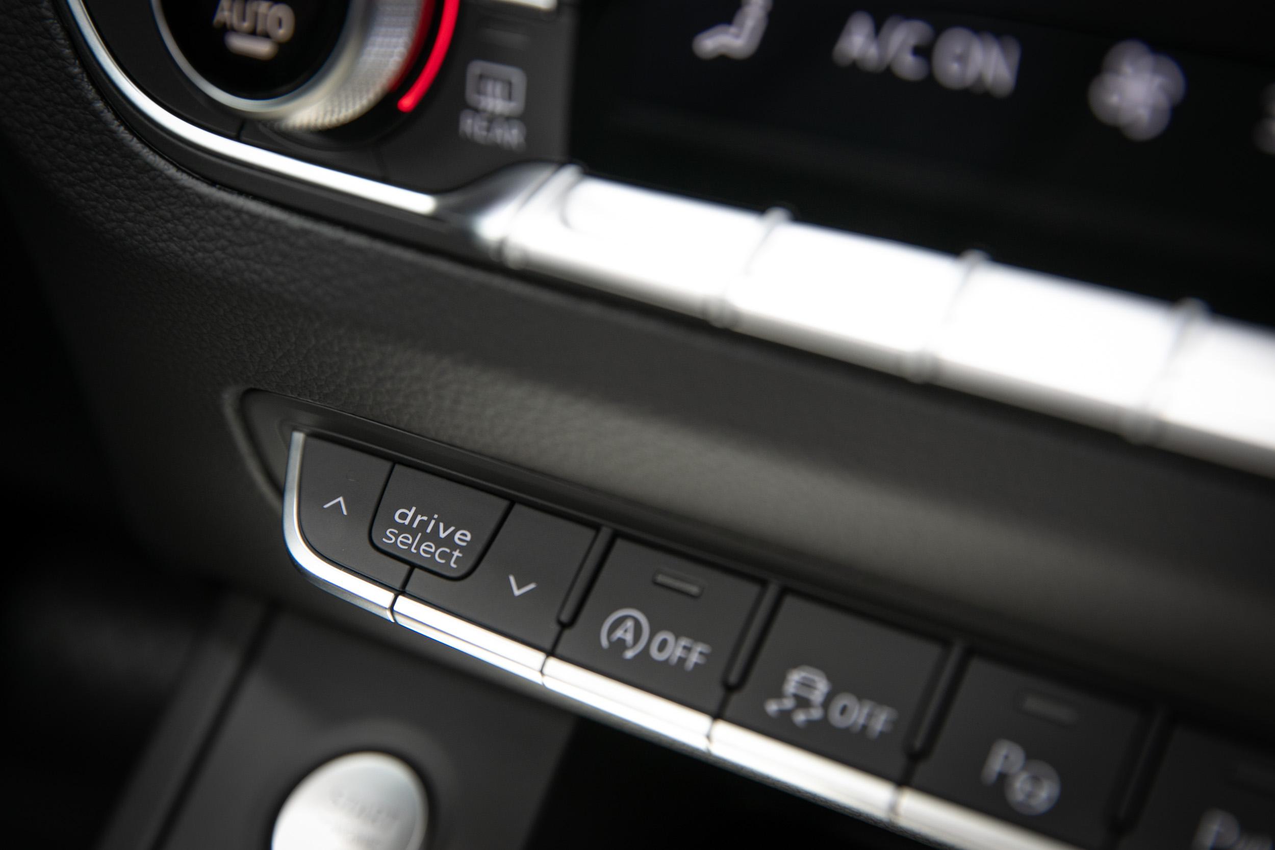 Audi 可程式車身動態系統提供五種駕駛模式,可依照駕駛習慣與用車環境自行調整。