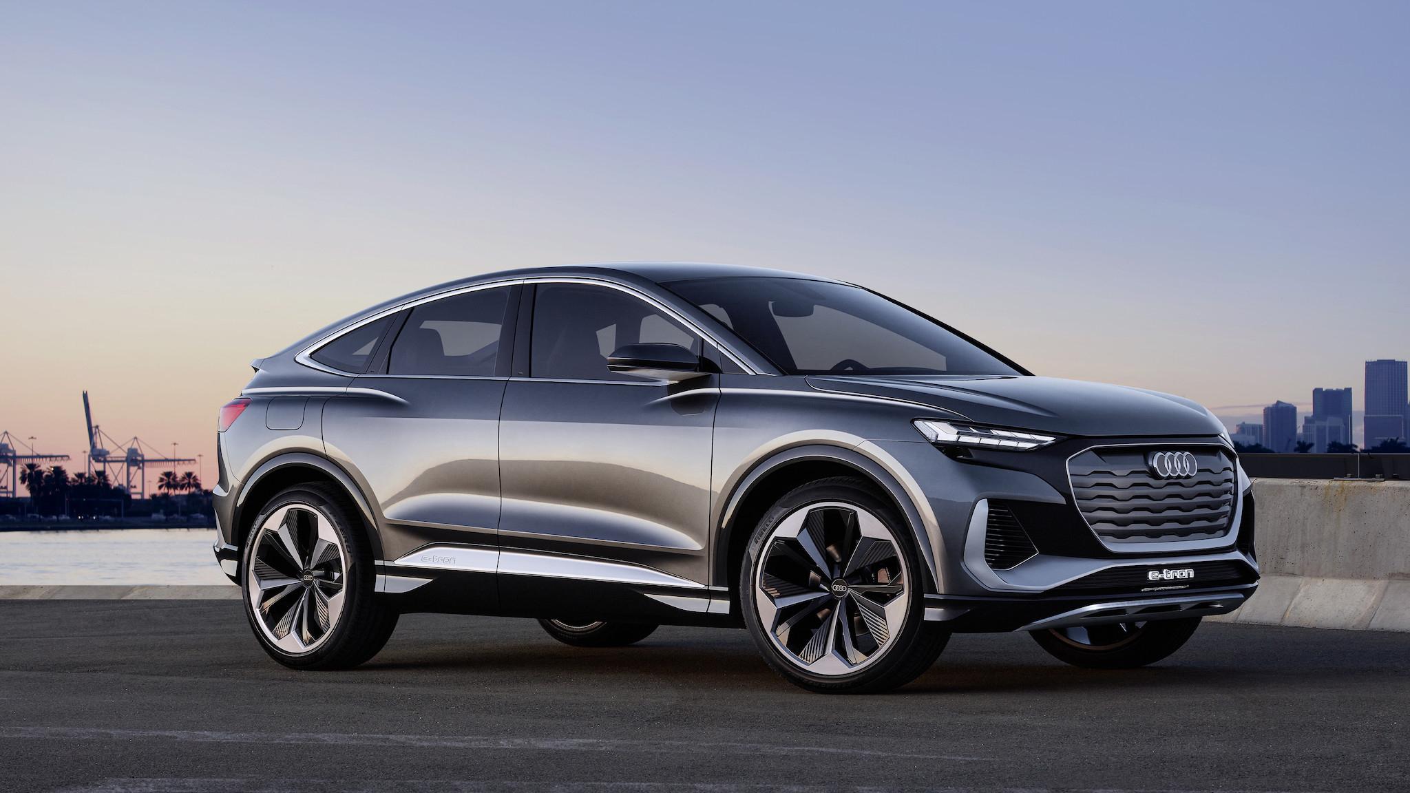 Audi Q4 Sportback e-tron concept 亮相,e-tron 估第四季登台