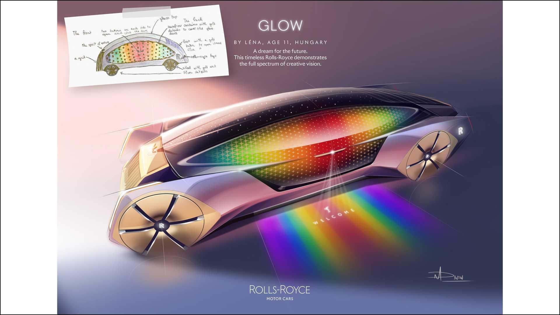 樂趣《勞斯萊斯微光》—— 來自匈牙利的 11 歲青年設計師 Léna。