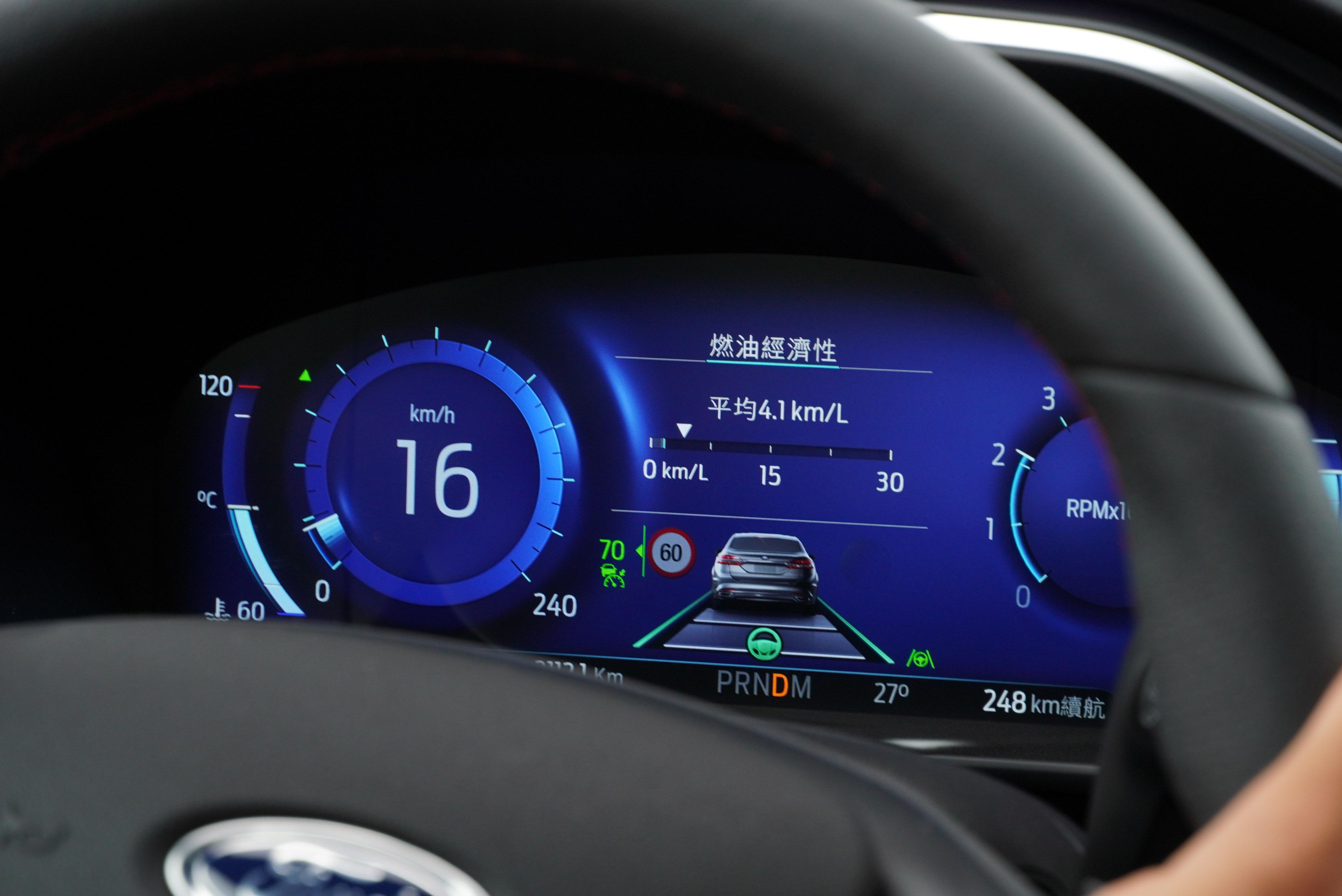 前車圖示會根據不同駕駛模式變化。