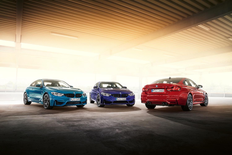 BMW M4 Edition M Heritage 採用 M Logo 藍紫紅三色打造。