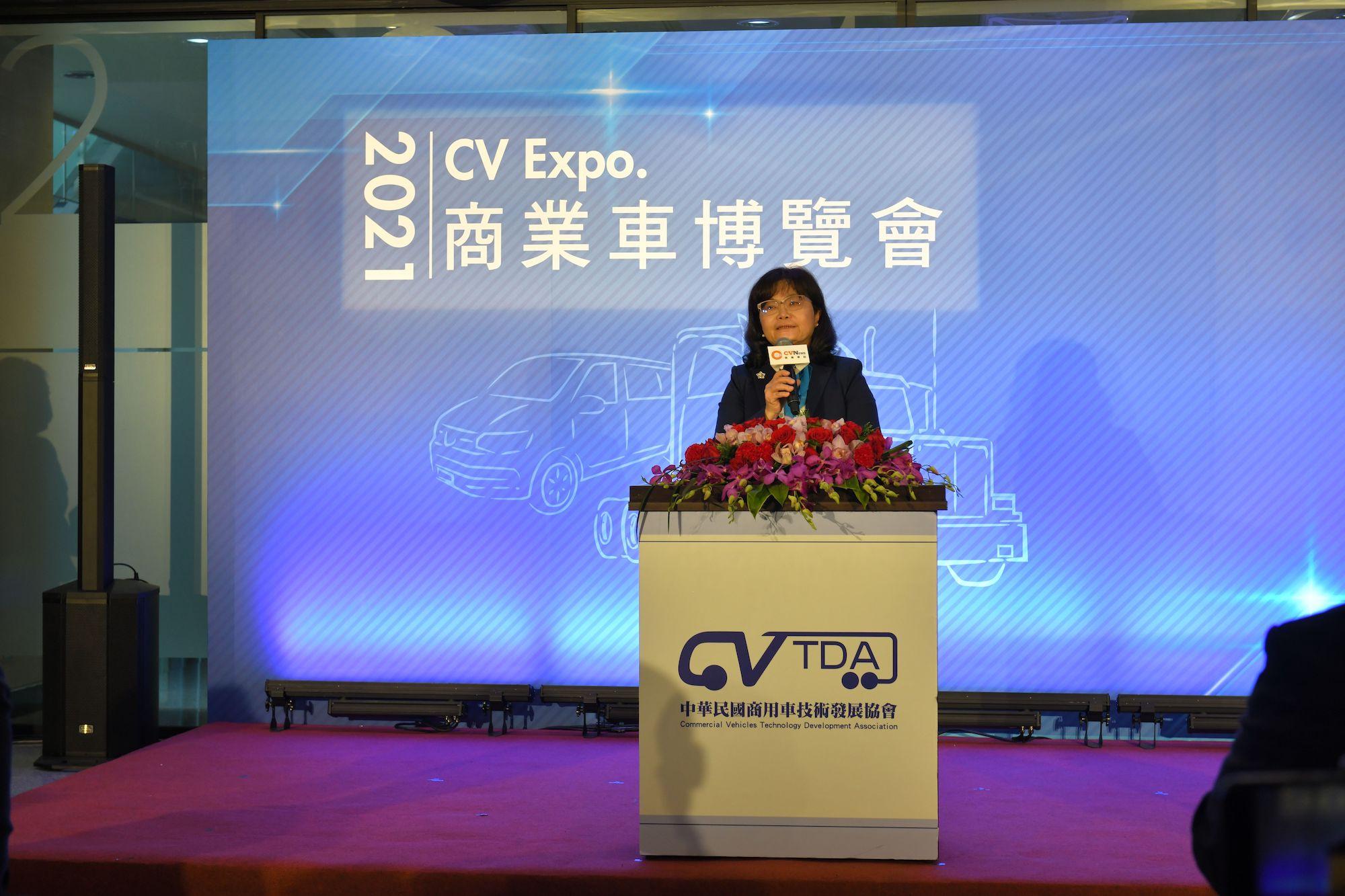 中華民國商用車技術發展協會張玉穎理事長。