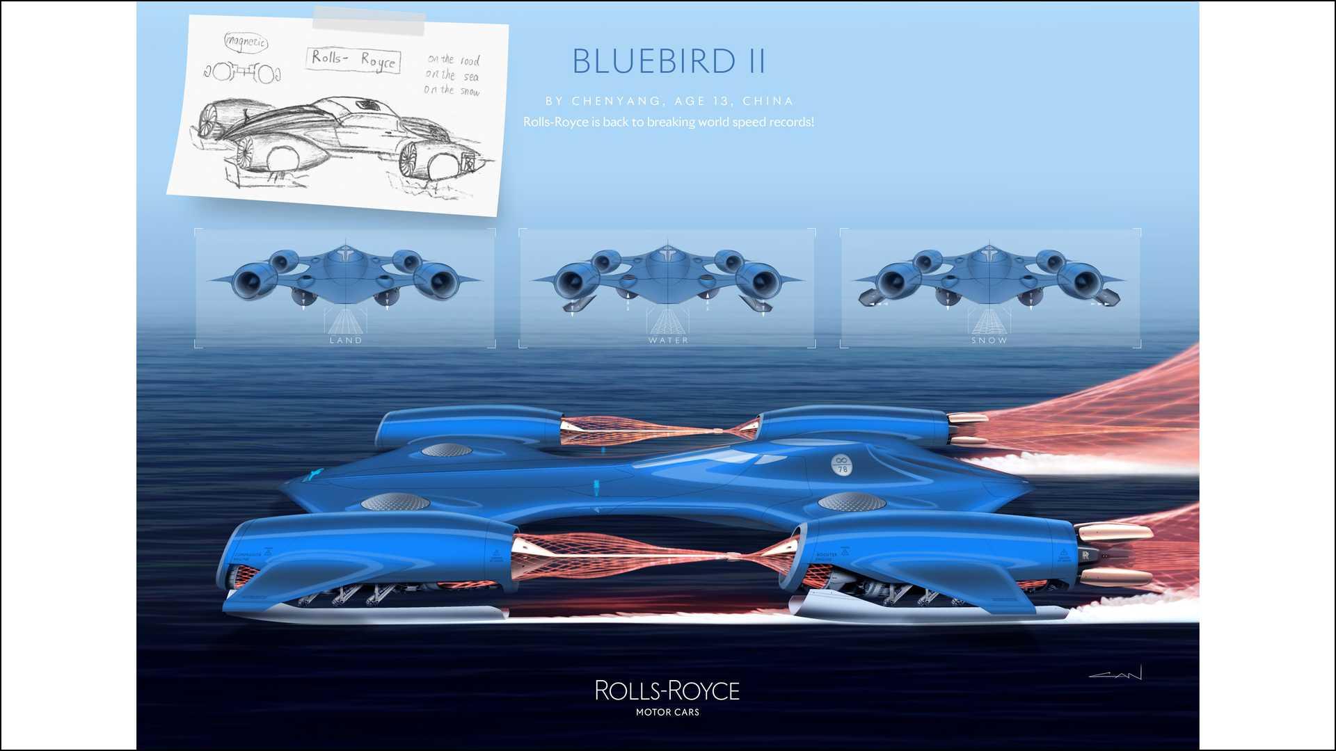 科技《勞斯萊斯藍鳥II》—— 來自中國的 13 歲青年設計師魏辰陽。