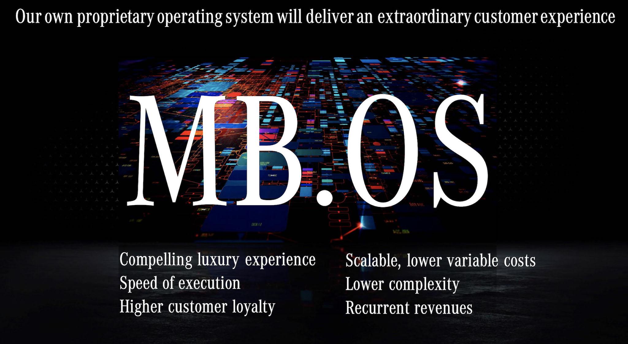 賓士將於 2024 年推出與關鍵夥伴 Nvidia 共同研發的 MB.OS 作業系統。