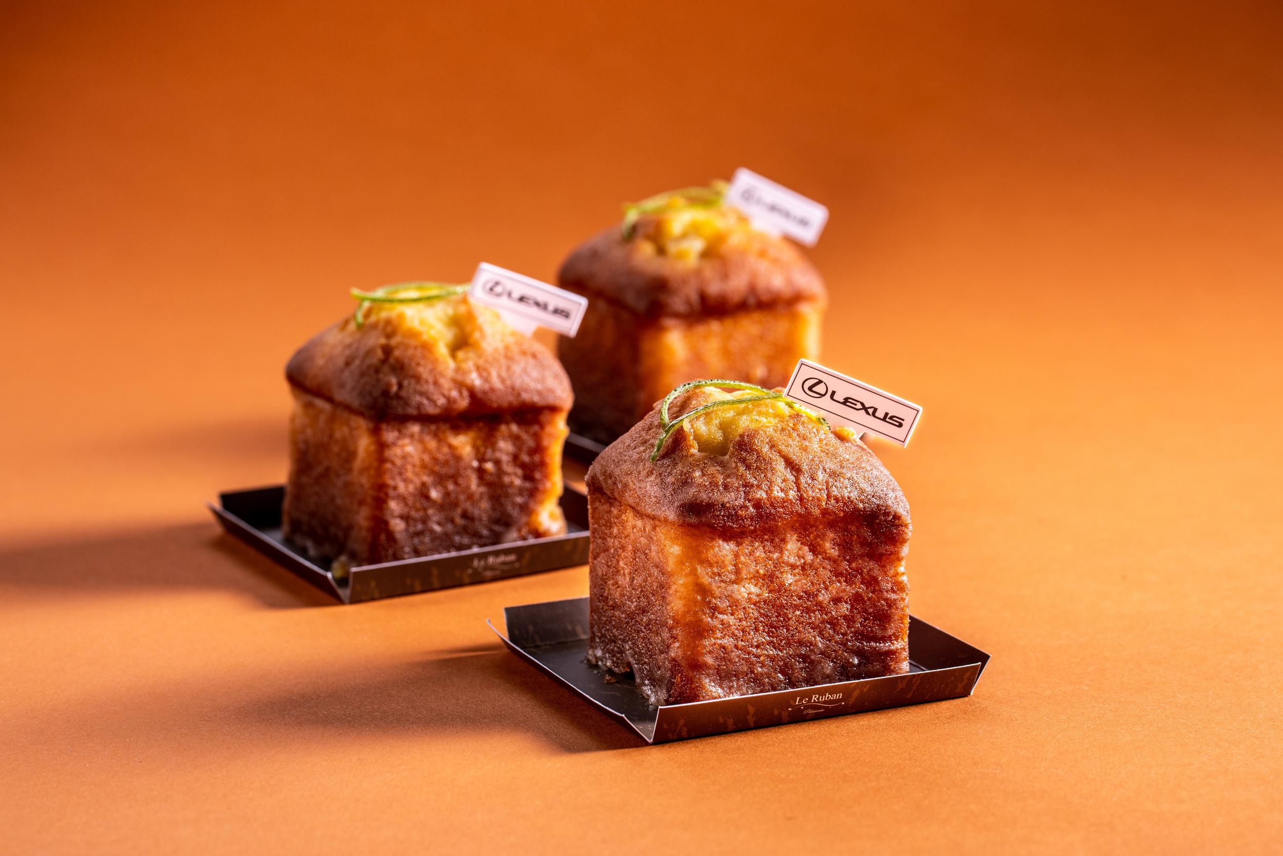 「Lexus 檸檬蛋糕」以經典檸檬糖霜和溫潤磅蛋糕酸甜平衡。